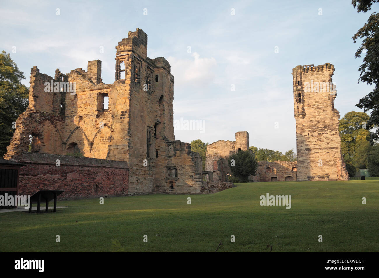 Evening view of the ruins of Ashby Castle, Ashby de la Zouch, Leicestershire, England. - Stock Image
