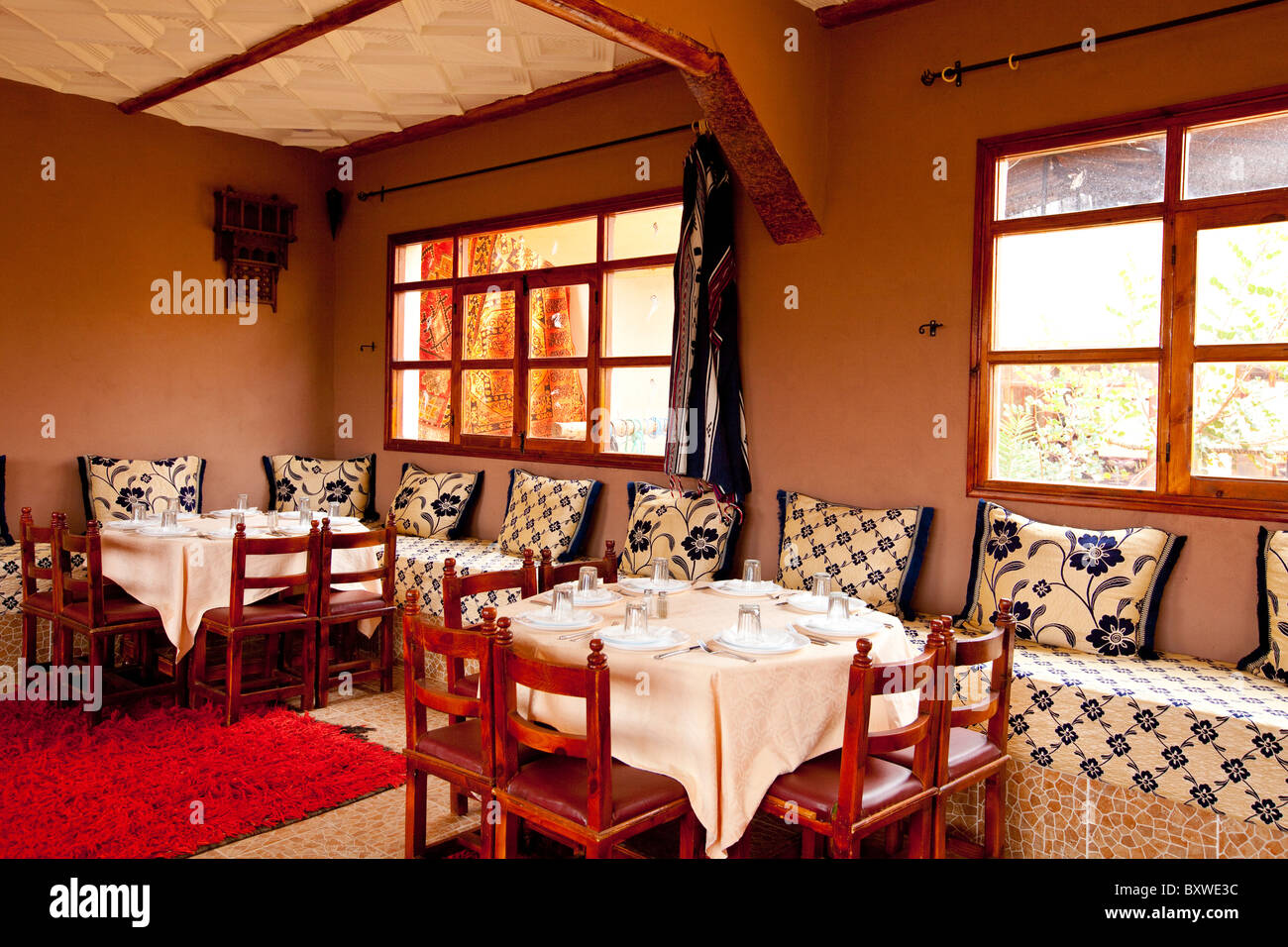 Interior Architecture And Furnishing Of A Moroccan Restaurant Near Stock Photo Alamy