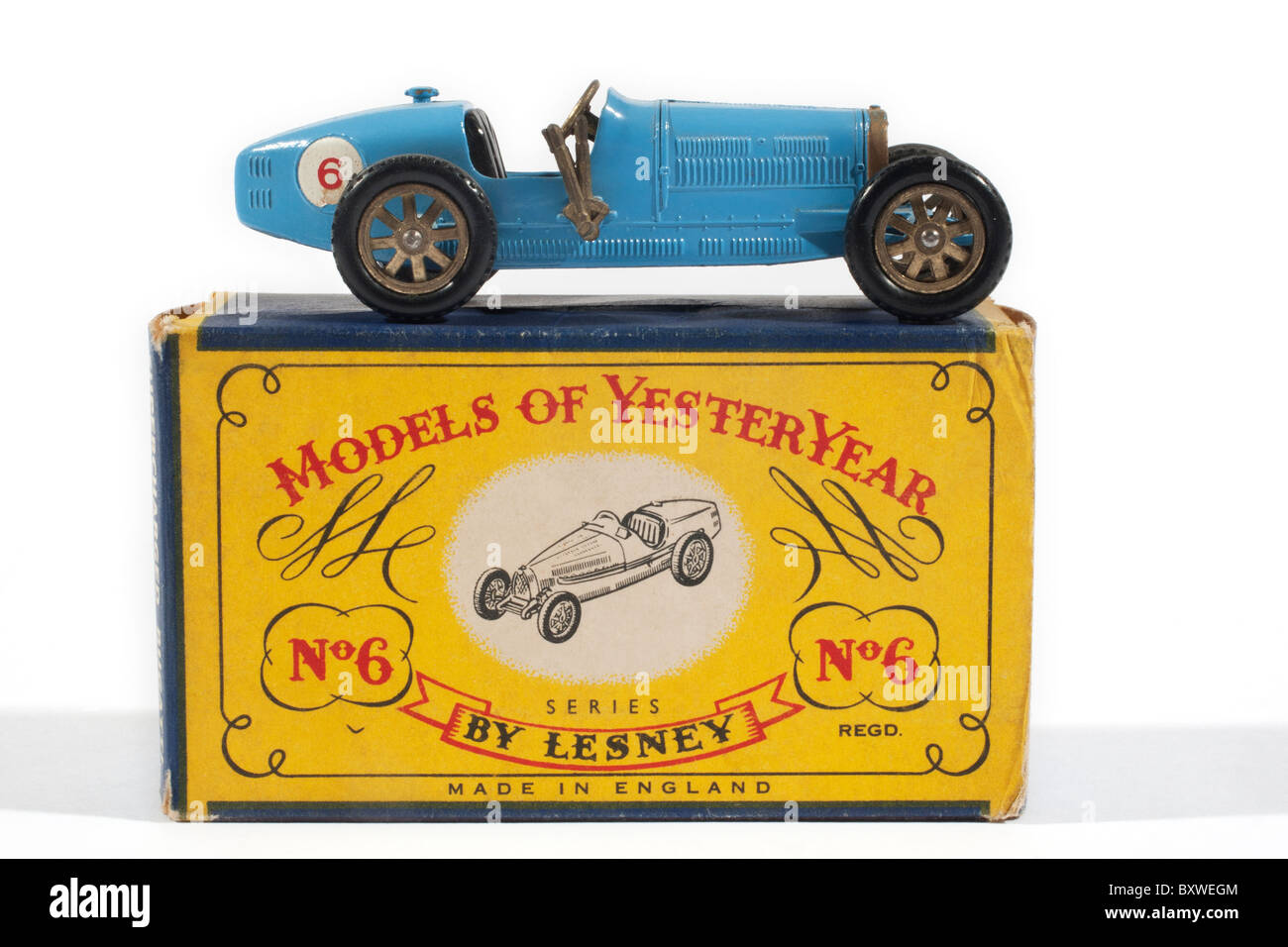 Models of Yesteryear 1926 Type 35 Bugatti Issued in 1961 and produced by Lesney Company in England - Stock Image