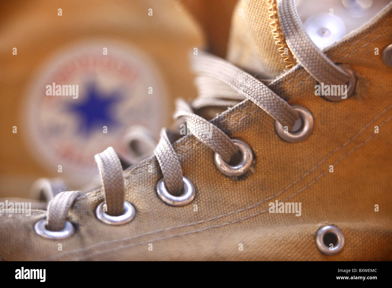 Old converse sneakers. - Stock Image