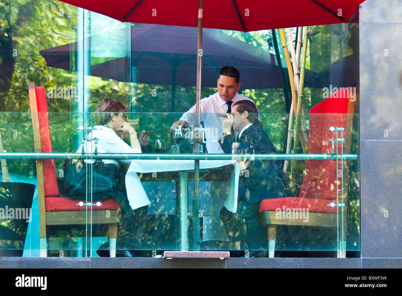 Upscale restaurant in Mexico City, Mexico - Stock Image