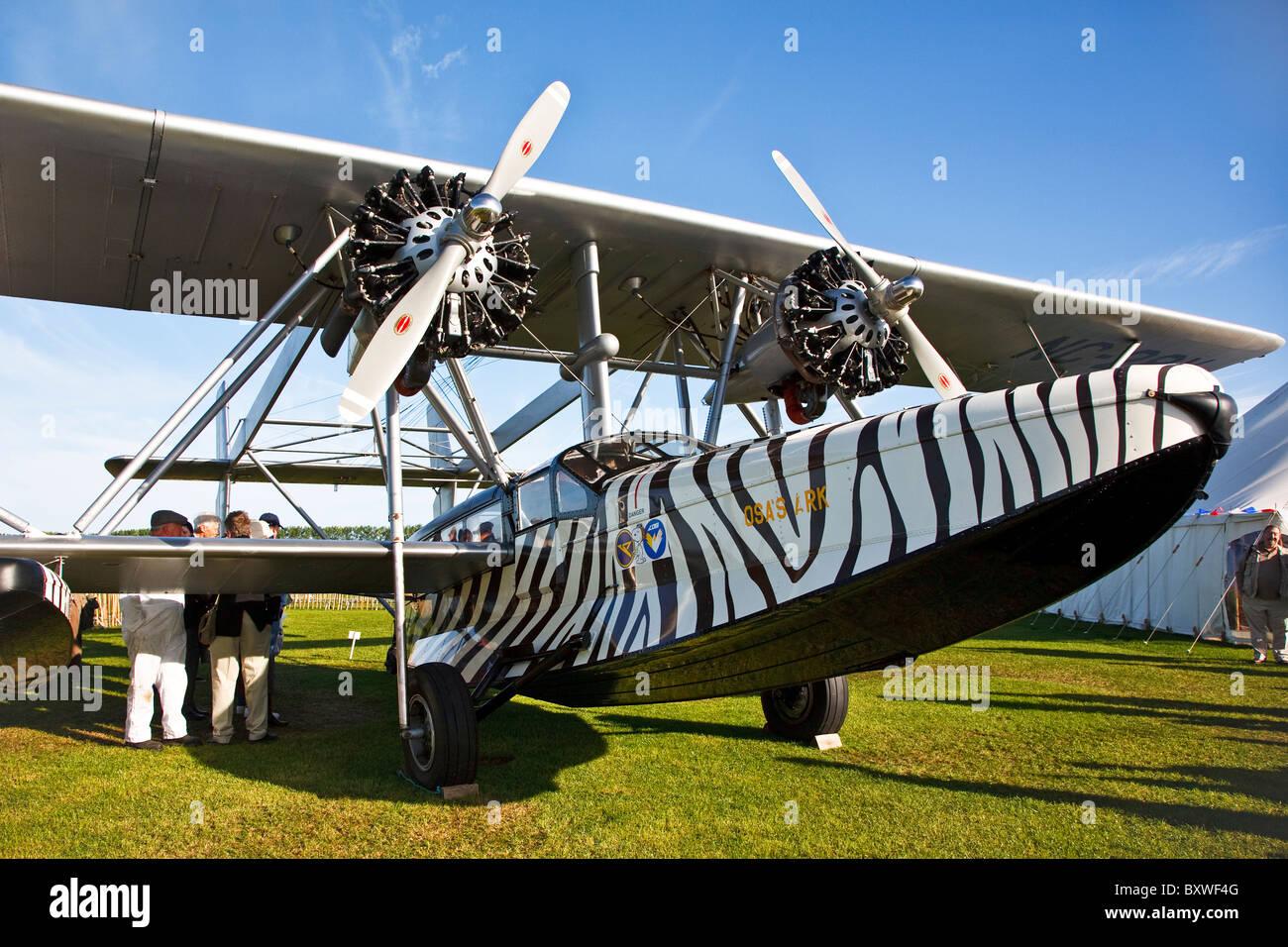 1928 Type, Sikorsky S-38, NC-28V, Flying boat, Goodwood Revival 2010 - Stock Image