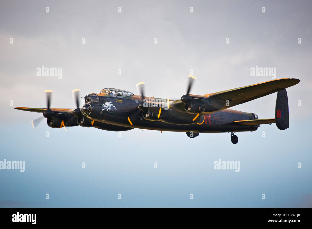 Avro Lancaster, memorial flight, Wings & Wheels display, Dunsfold 2010 - Stock Image