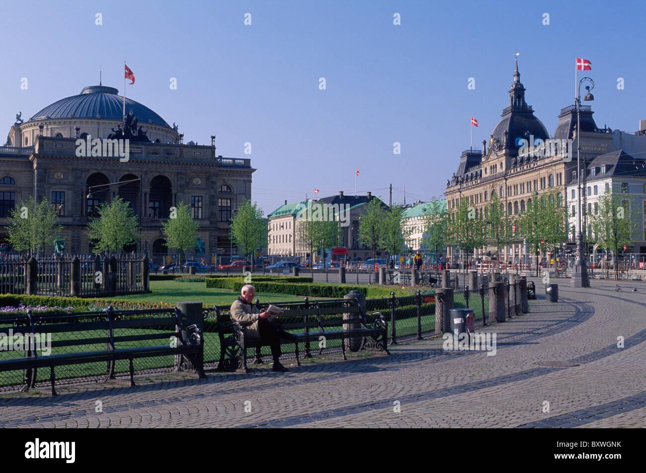 Kongens Nytorv, Copenhagen, Denmark - Stock Image