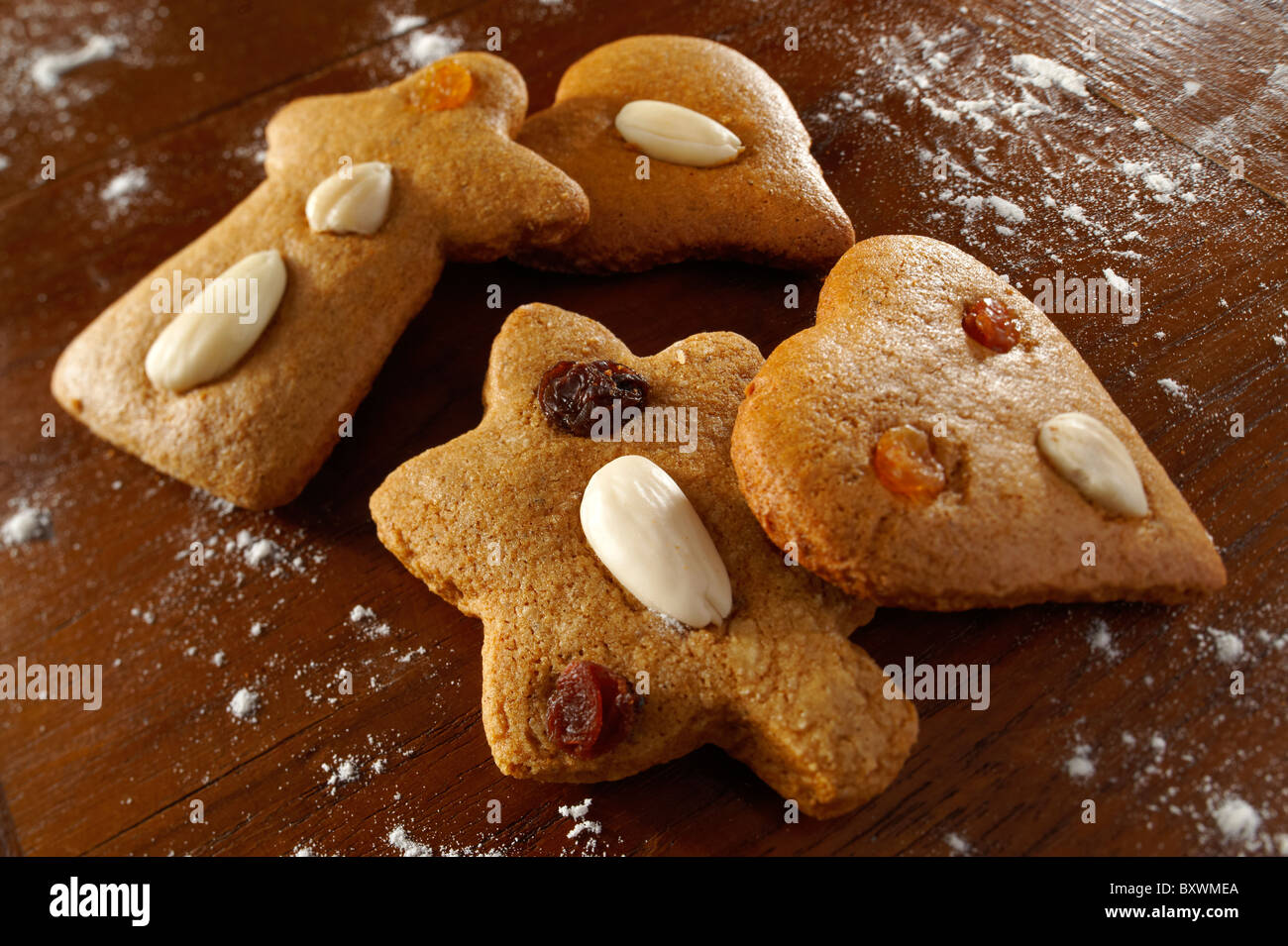 Traditional Spicy Christmas Biscuits Hungarian Stock Photo