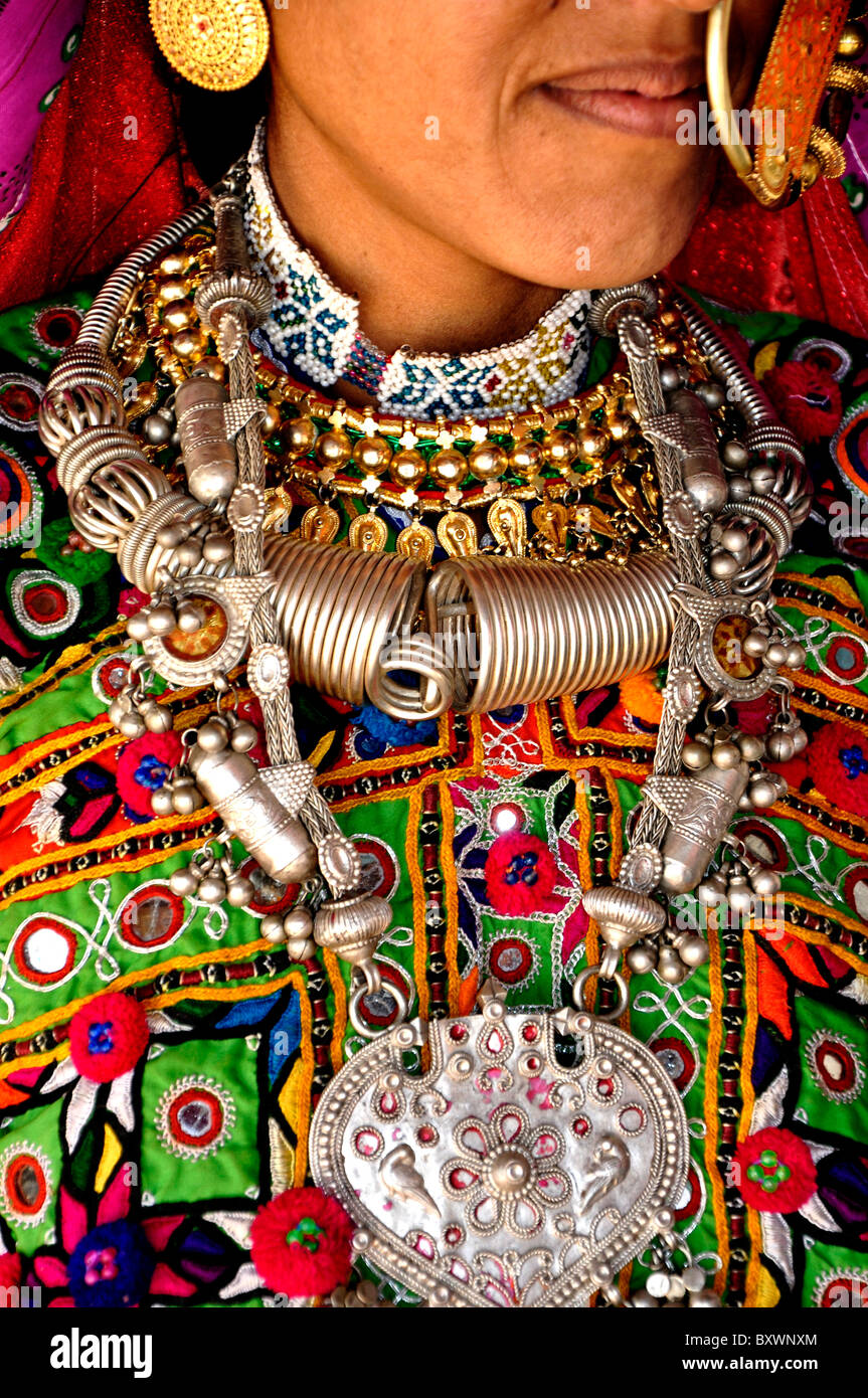 A woman from Kutch, Gujarat,india - Stock Image