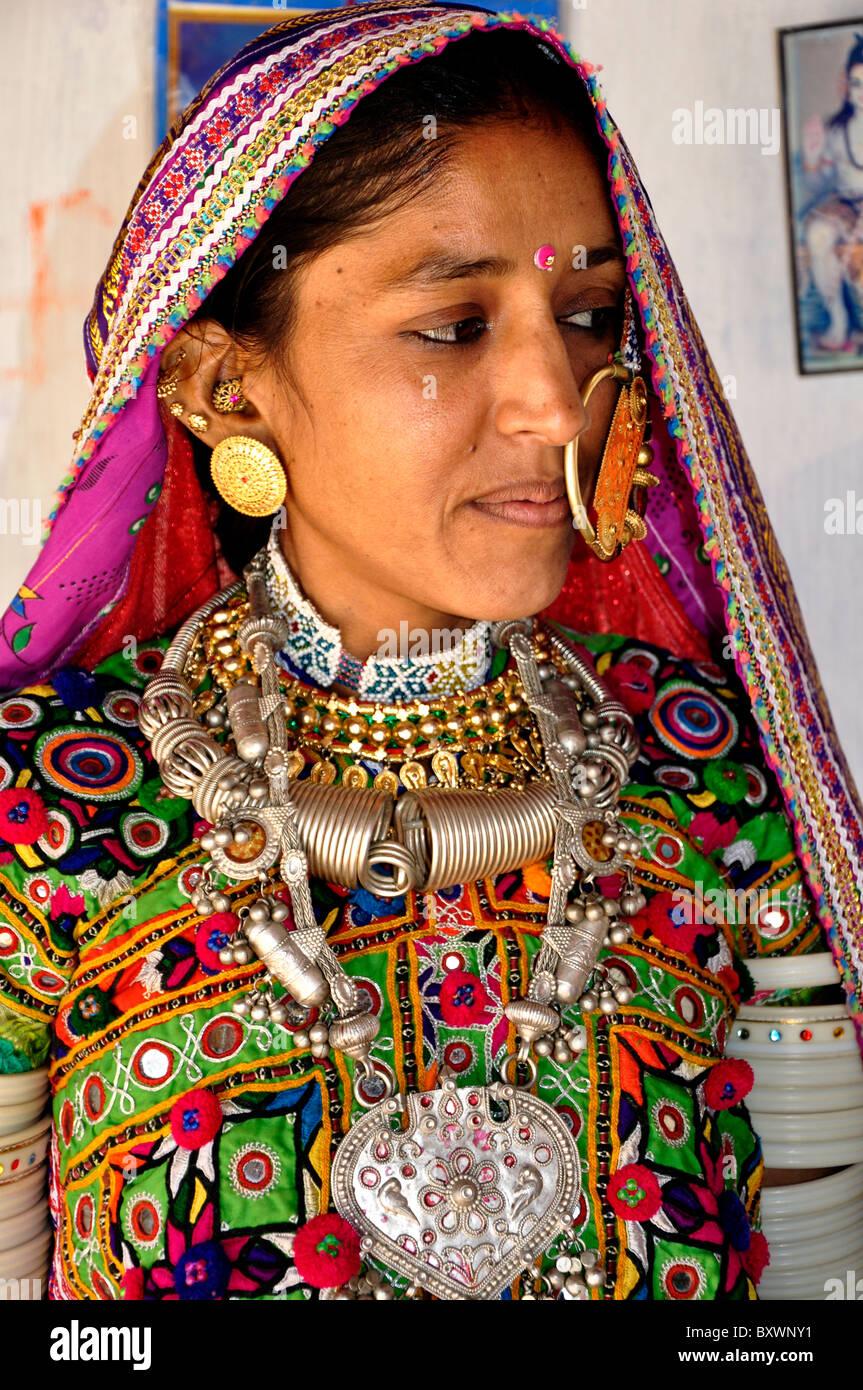 A woman from Kutch, Gujarat,india Stock Photo - Alamy