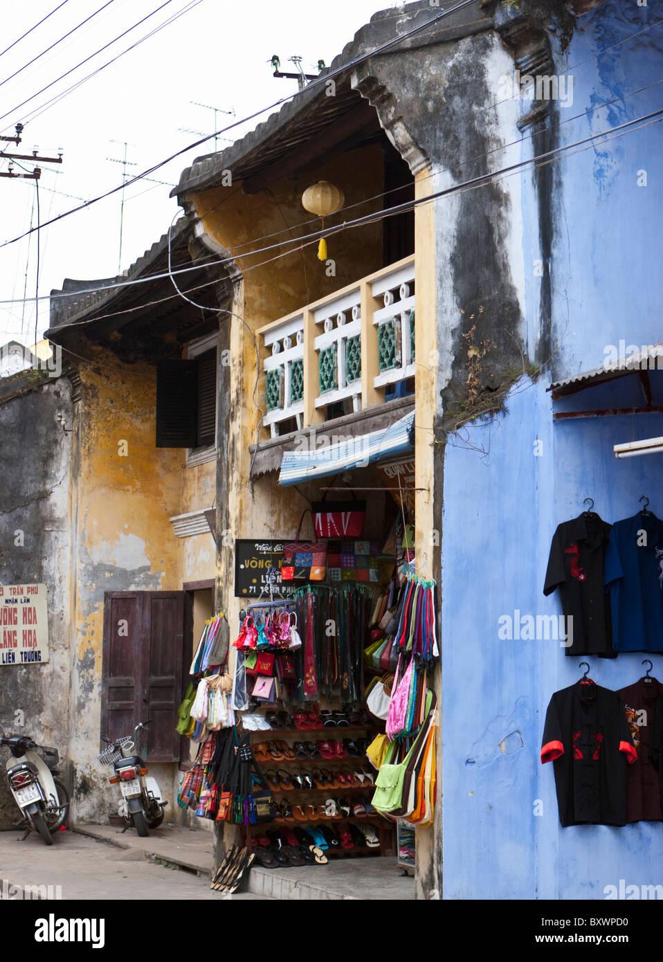 Shop fronts, Hoi An, Vietnam - Stock Image