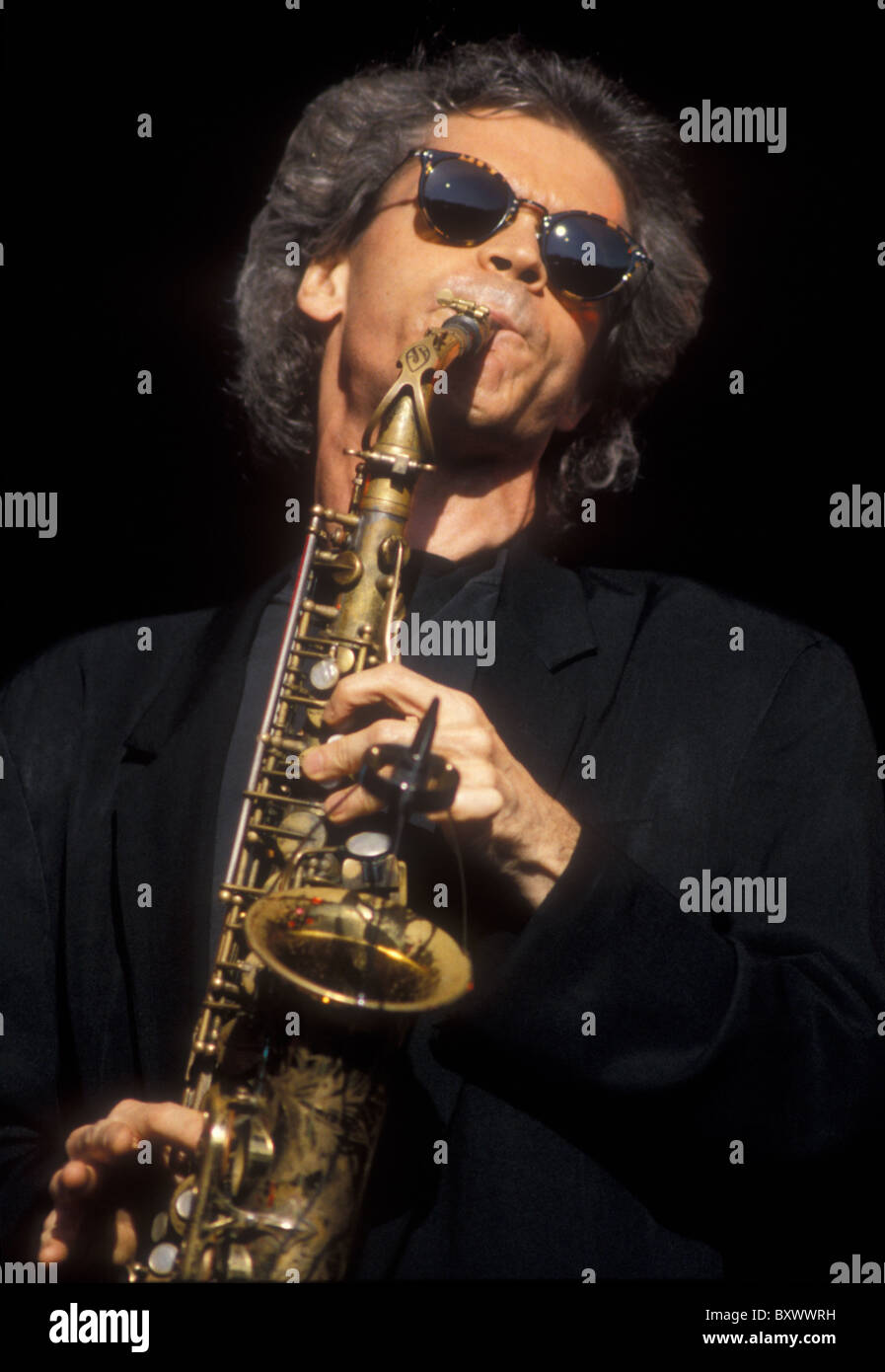 David Sanborn. Jazz Saxophonist. Alexander Palace 1994 American. - Stock Image