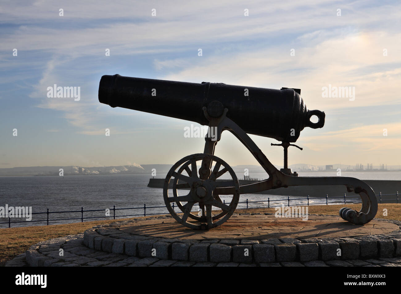 Sebastopol Cannon captured during the Crimean war, situated at Hartlepool Headland, North East England. - Stock Image
