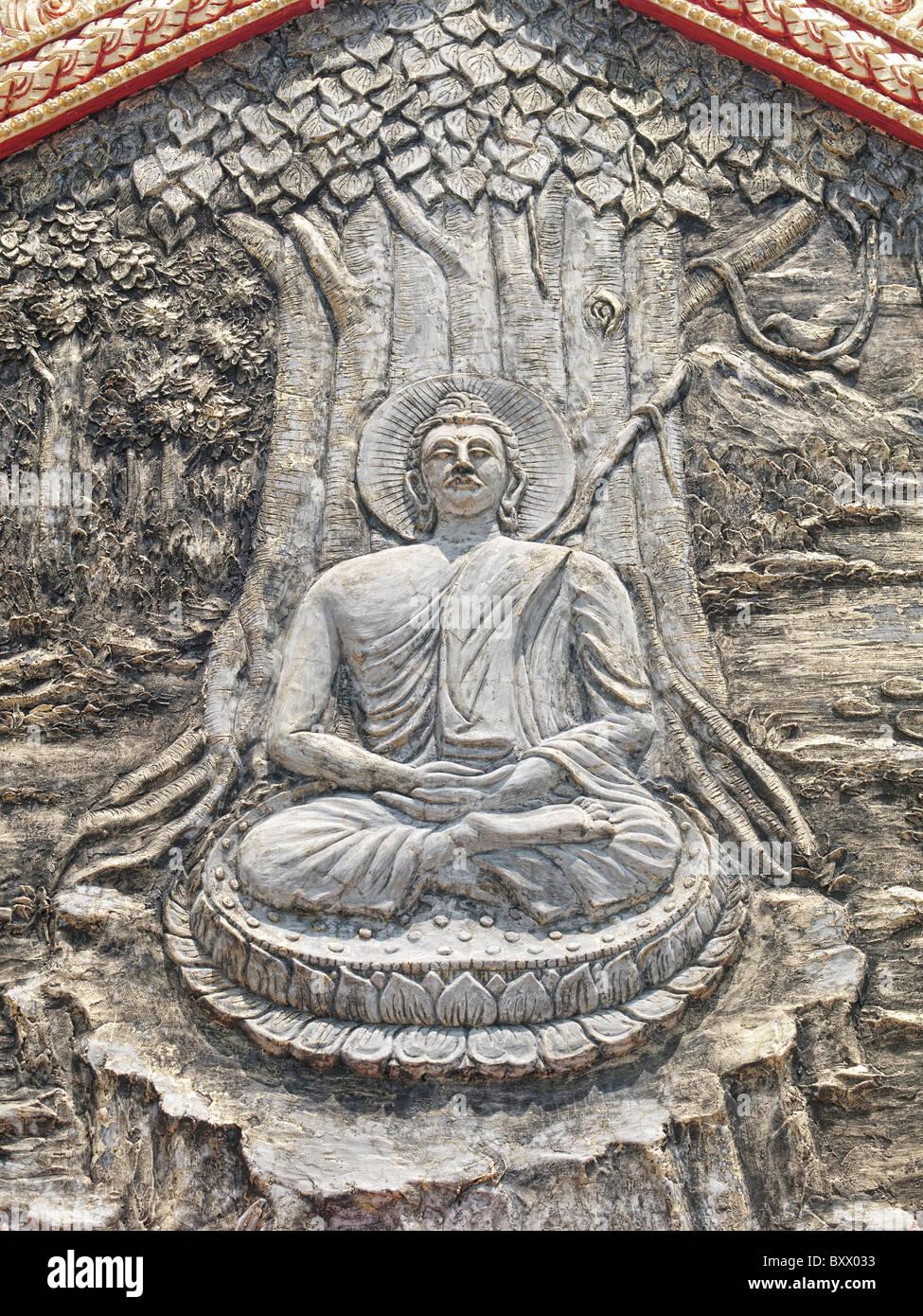 Wat Buppharam temple in Penang Stock Photo