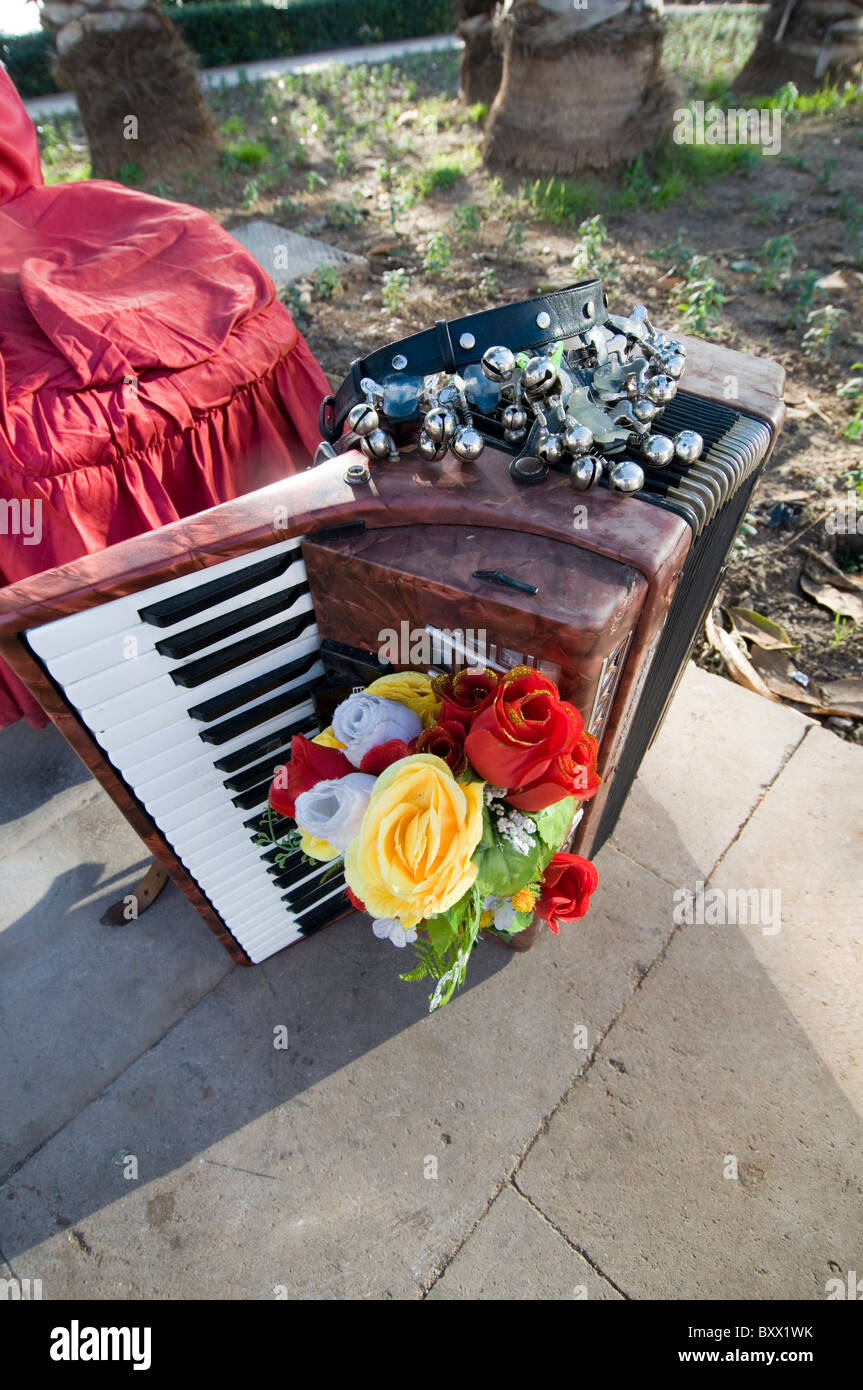 accordion accordions folk music traditional instrument instruments festival festivals - Stock Image