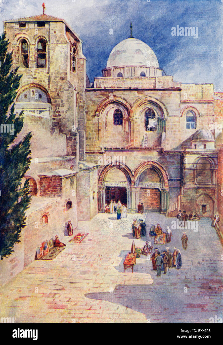 The Church of the Holy Sepulchre, Jerusalem, Palestine, circa 1910. - Stock Image
