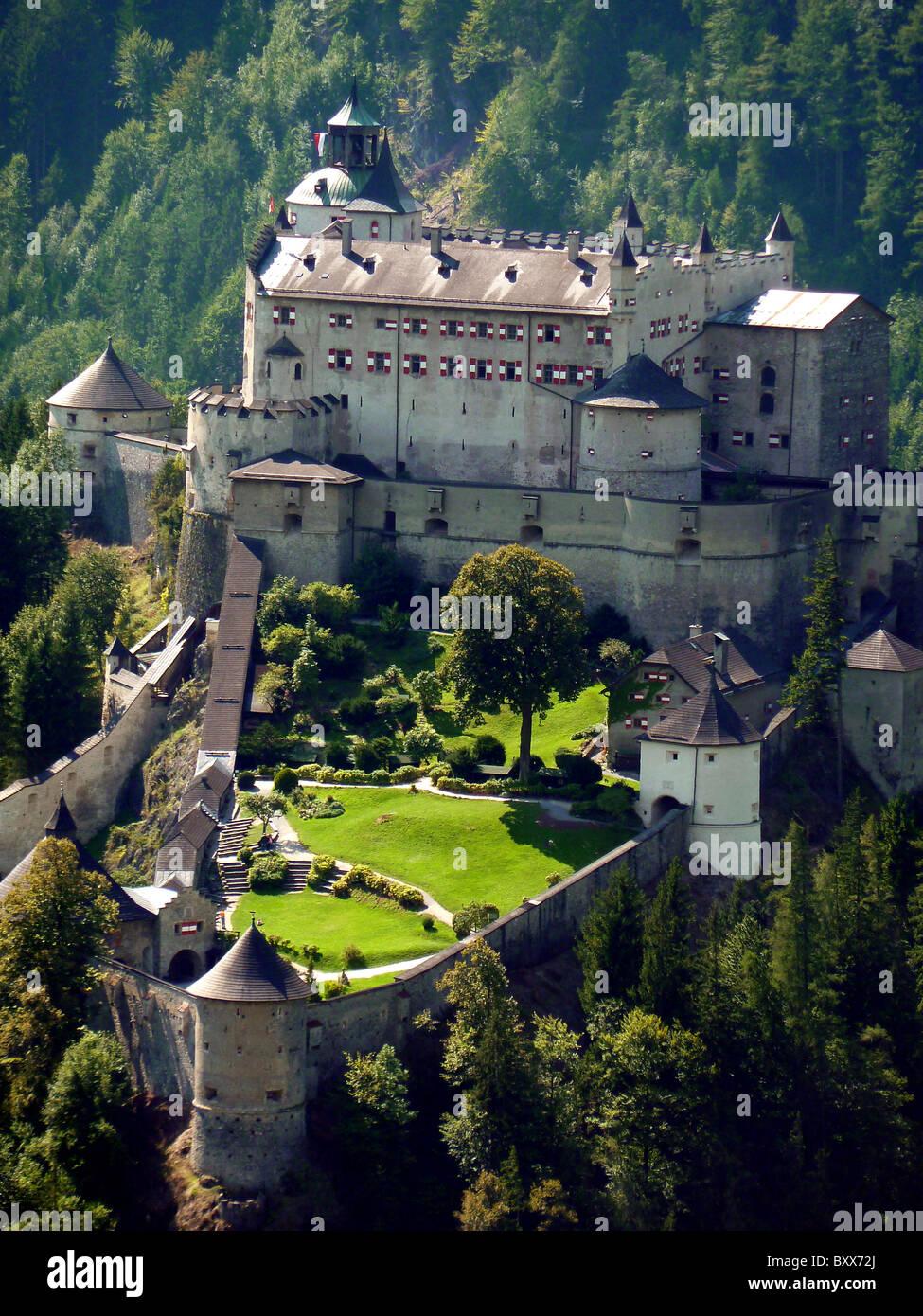 BURG HOHENWERFEN FORTRESS WERFEN AUSTRIA SALZBURG AUSTRIA ...