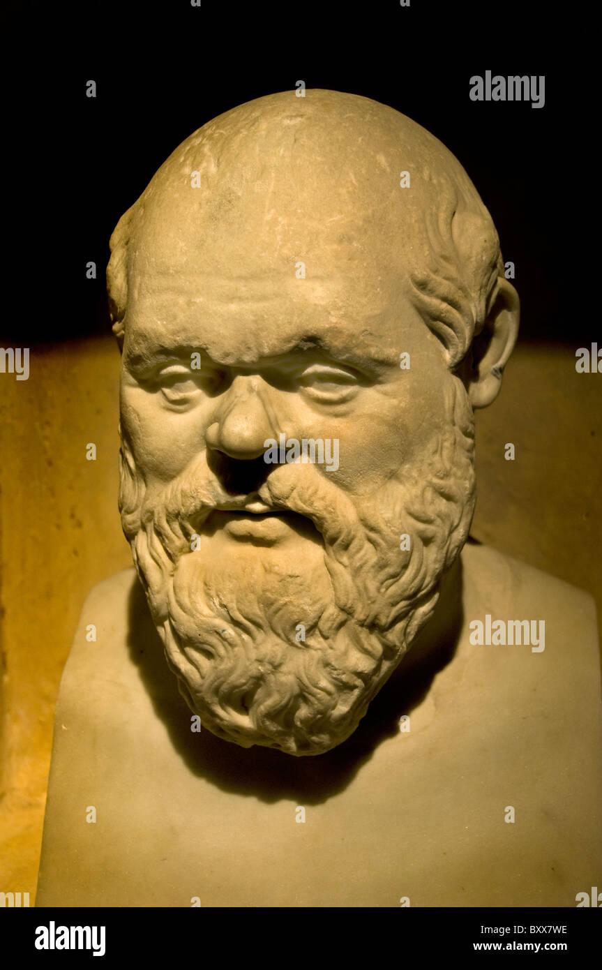Socrates Greek philosopher philosophy Greece - Stock Image