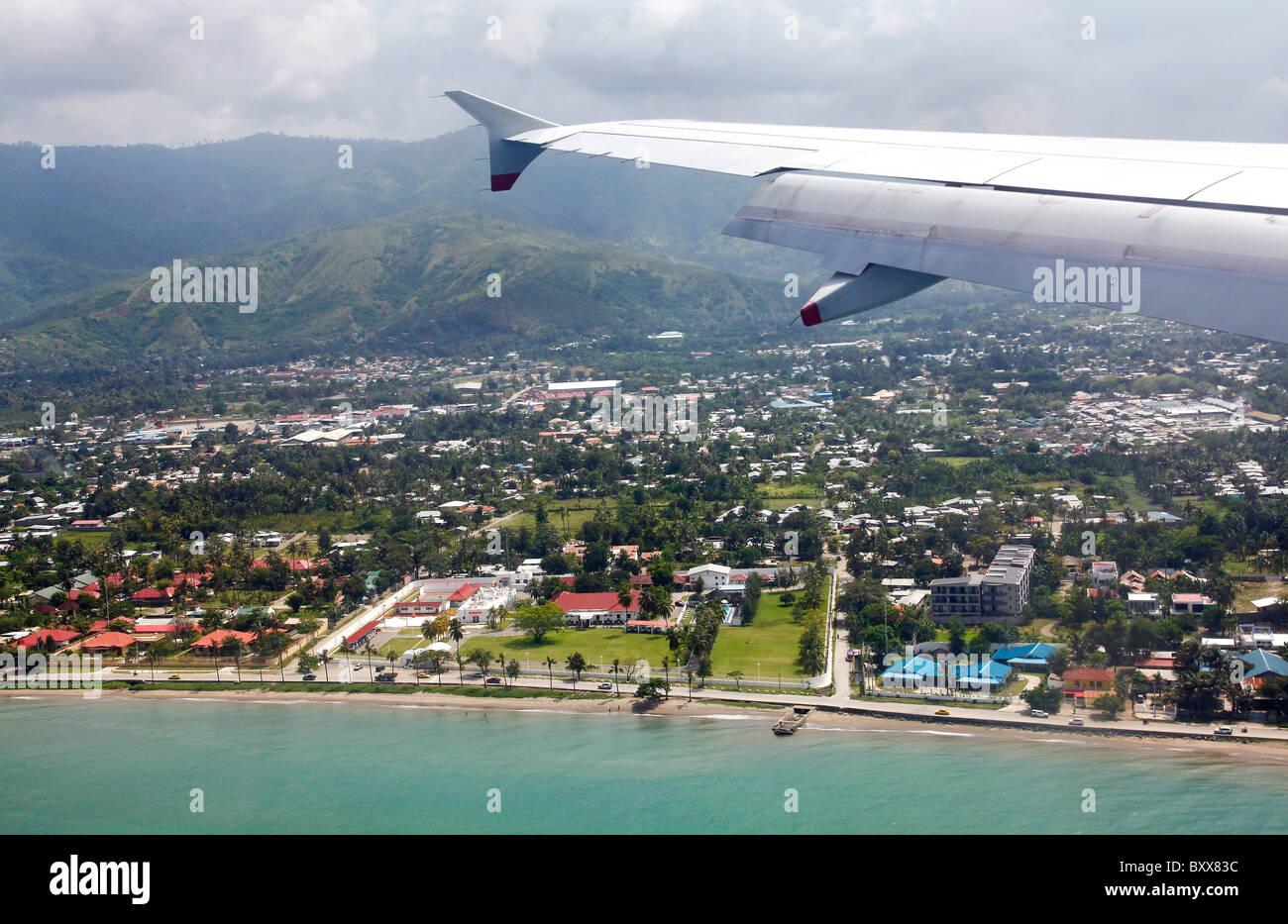 Birds eye view on Dili, capital of Timor Leste (East Timor) - Stock Image
