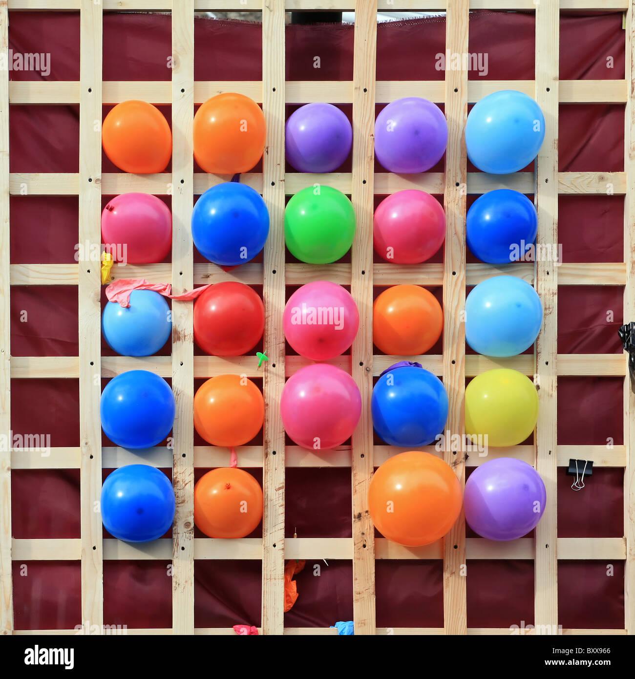 varicoloured balls - Stock Image