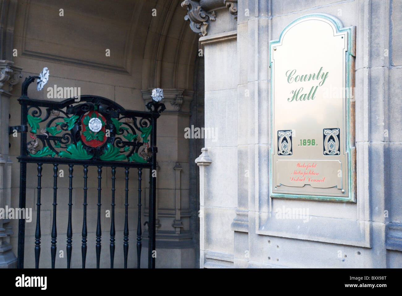 County Hall Wakefield West Yorkshire England - Stock Image