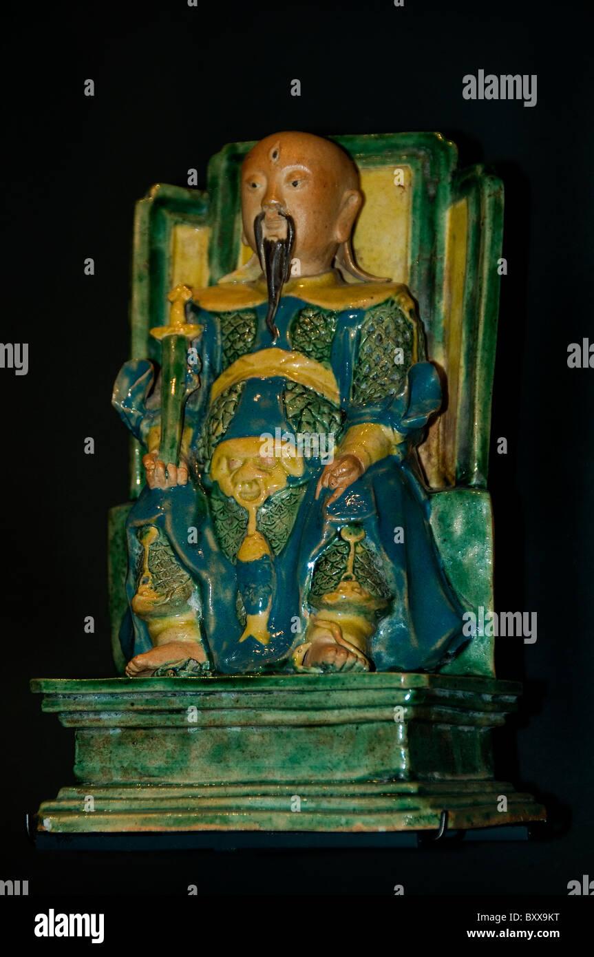 The God of  Xuan Tian Shangdi Xuanwu China Chinese 18th Century - Stock Image