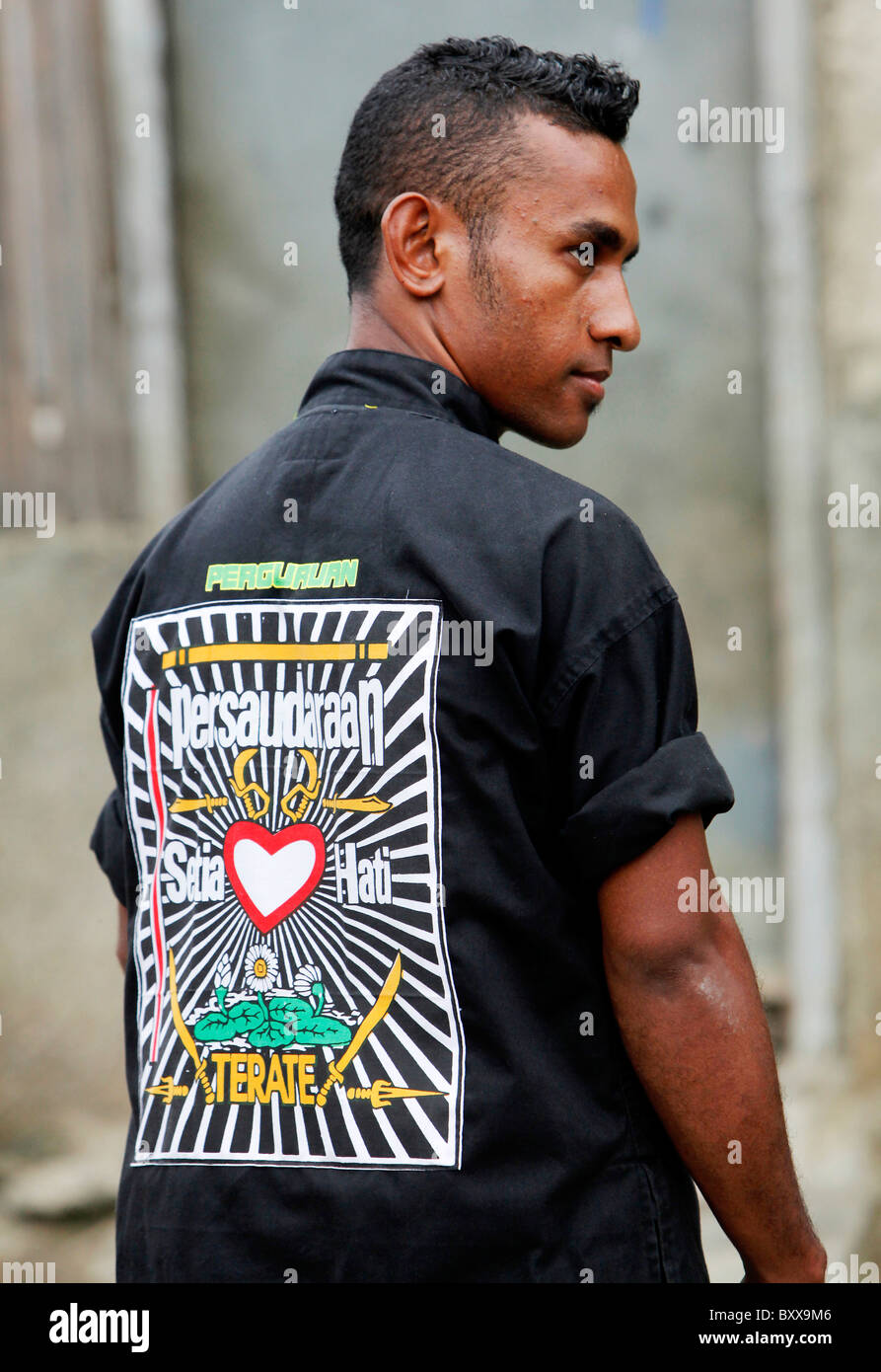 Emblem of the notorious Martial Arts group and youth gang PSHT, Dili, Timor Leste (East Timor) - Stock Image