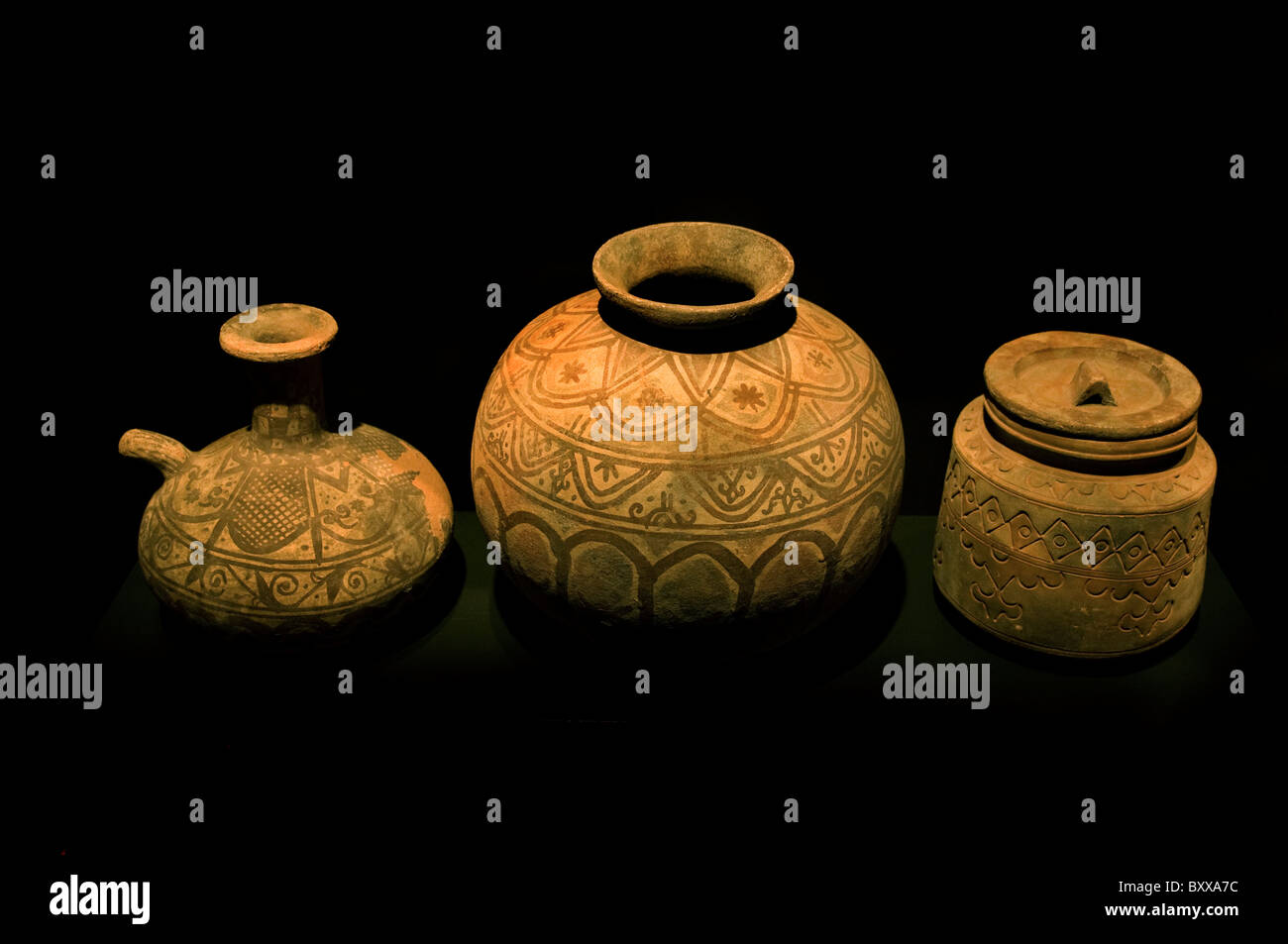 Indonesia Indonesian Banda Maluku Tengah earthenware pots Kai Islands before 1900 - Stock Image