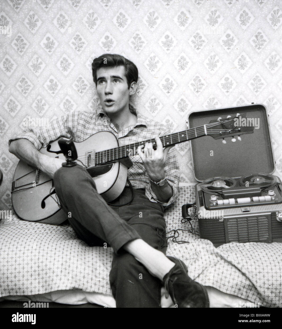 JIM DALE  English pop singer and latterly actor and voice artist here about  1957 while appearing on Six-Five Special - Stock Image