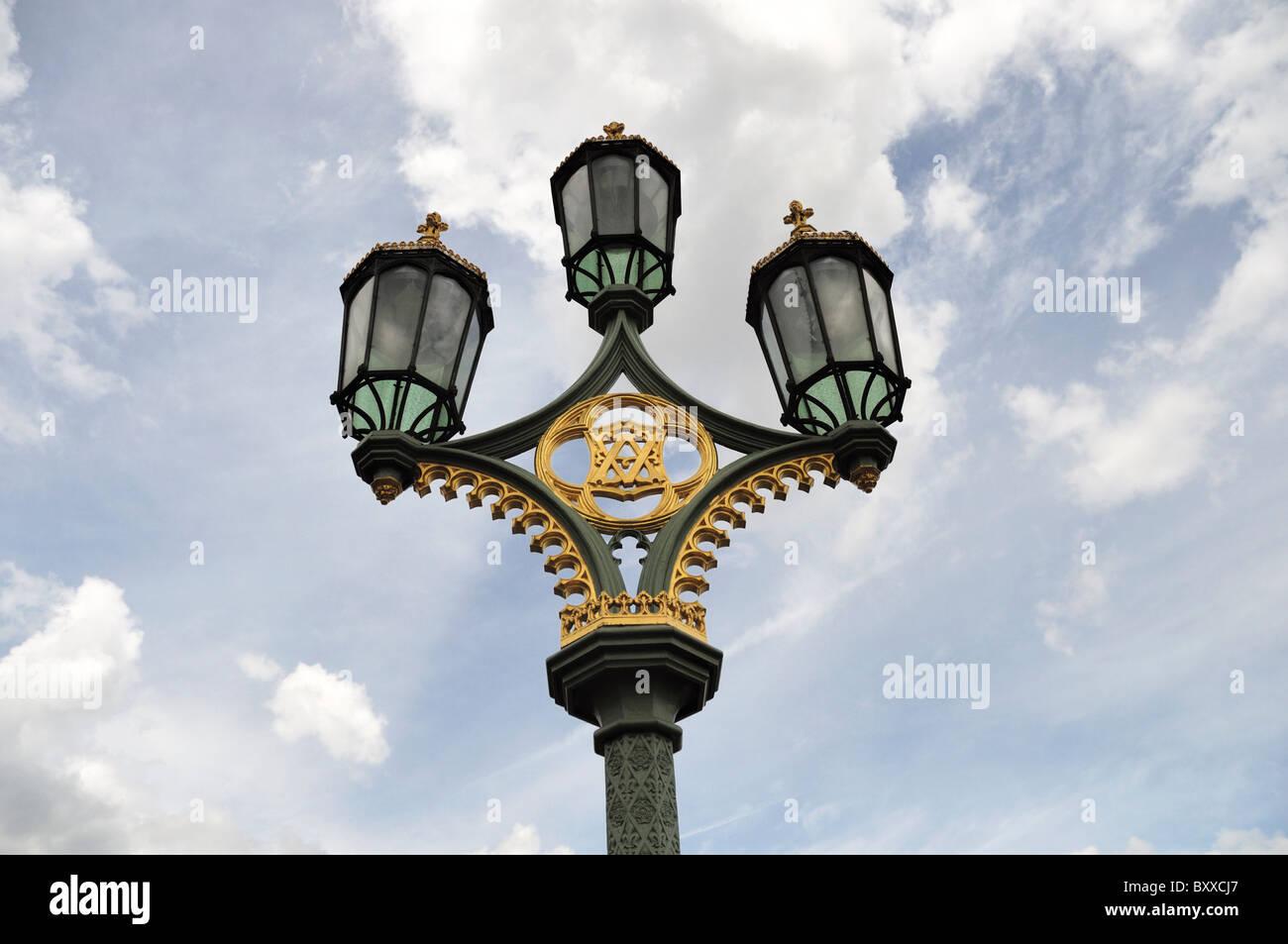 A London streetlight. - Stock Image