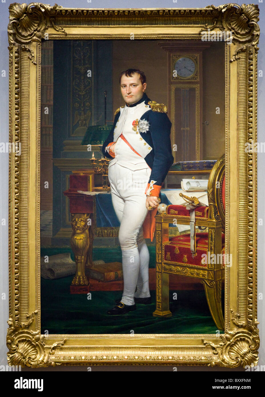 'The Emperor Napoleon in His Study at the Tuileries' by Jacques-Louis David, 1812 - Stock Image