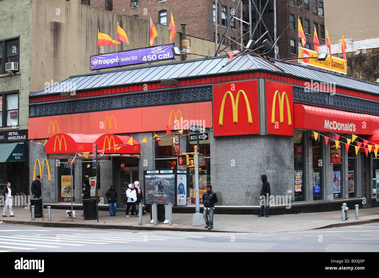 McDonald's restaurant in Chinatown, New York city, 2010