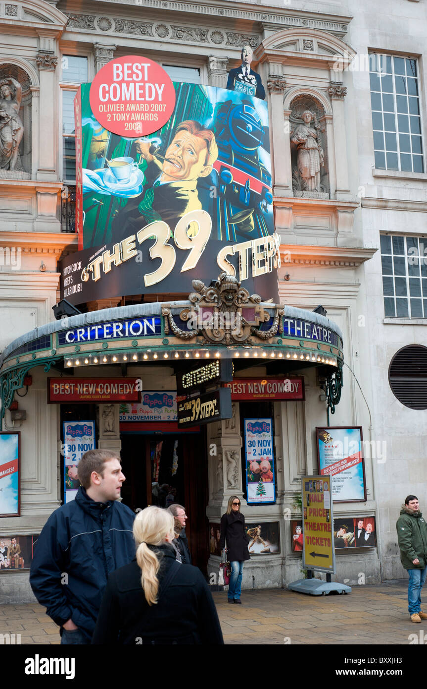 Play 'The 39 Steps' at the Criterion Theatre, London, UK - Stock Image