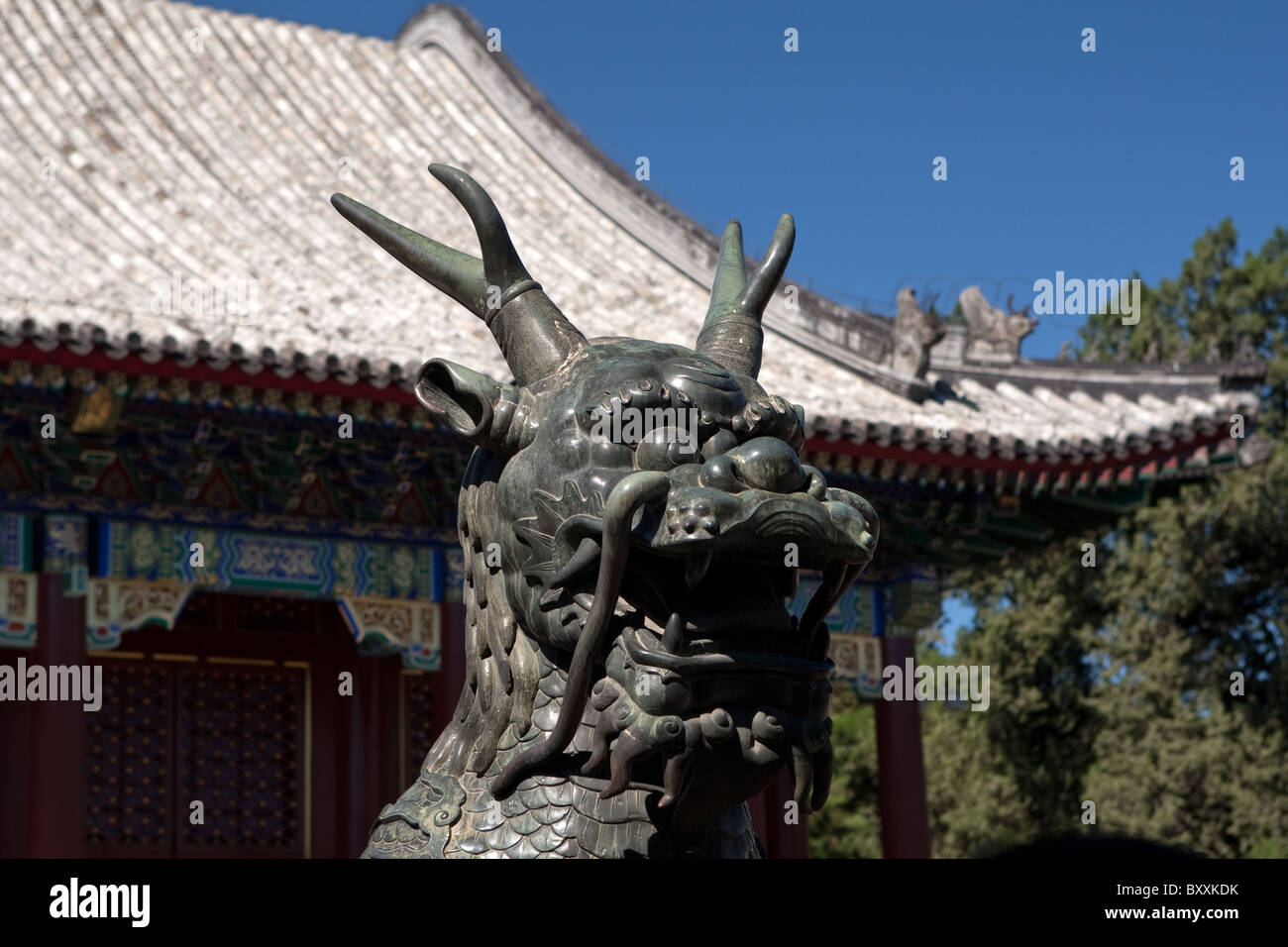 Entrabce to Yiheyuan = Garden of Restful Peace = Summer Palace Beijing China - Stock Image