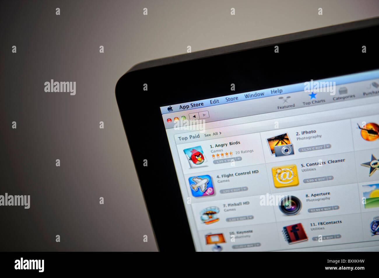 Apple Mac App Store Stock Photo: 33777573 - Alamy