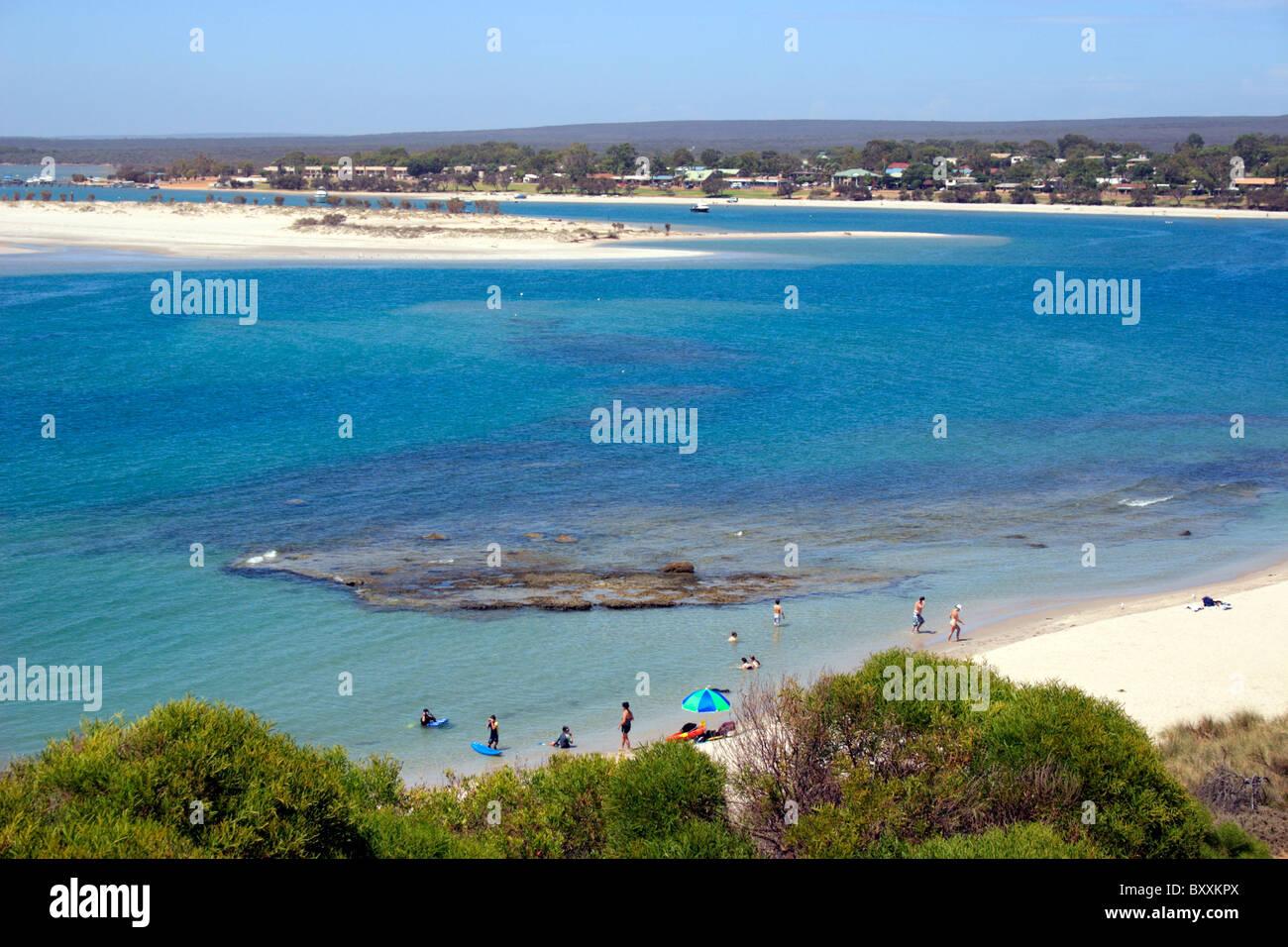 Kalbarri Beach Indian Ocean and National Trust Park Western Australia - Stock Image