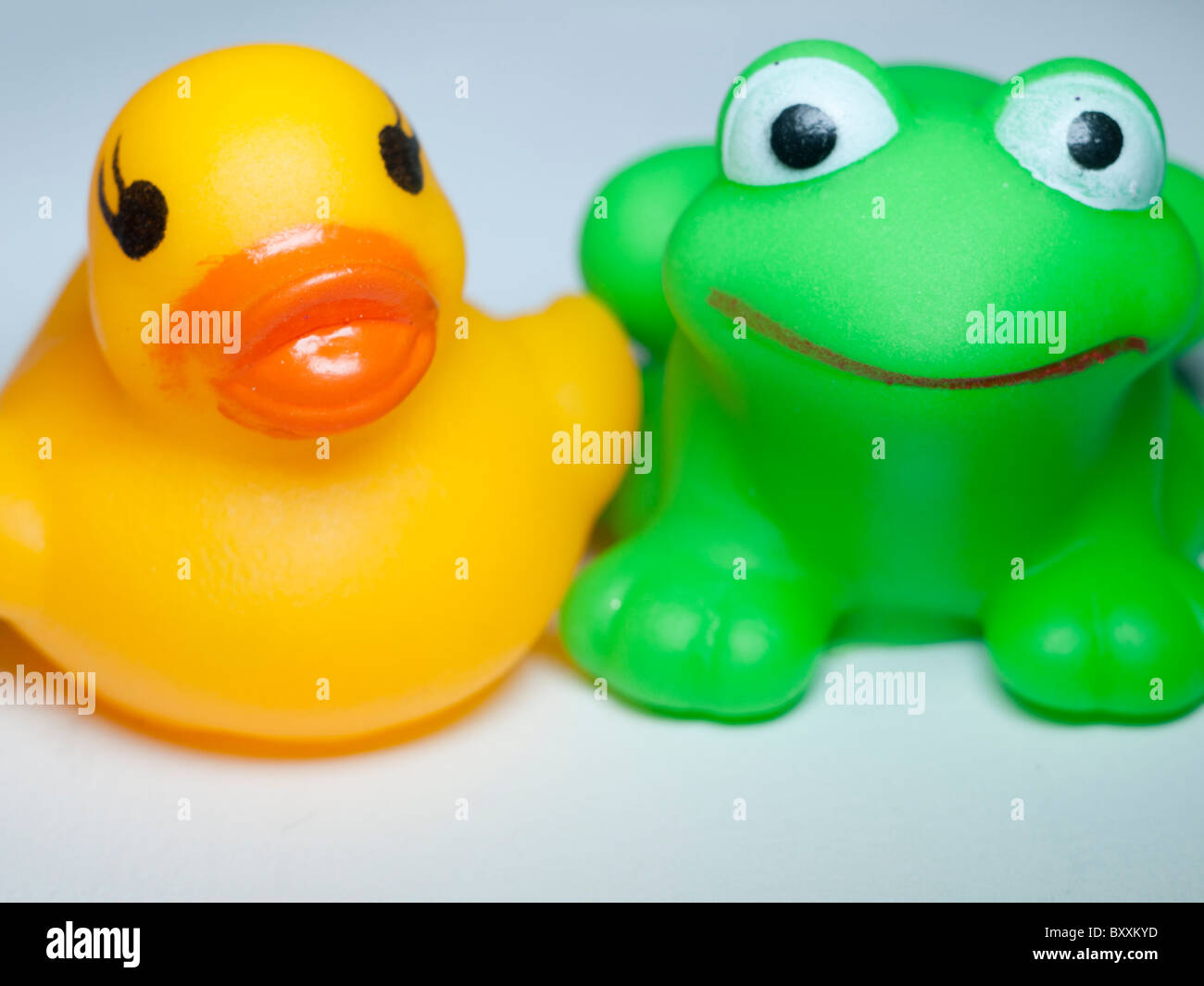 Toxic rubber toys, duck and frog are made from PVC which contains ...