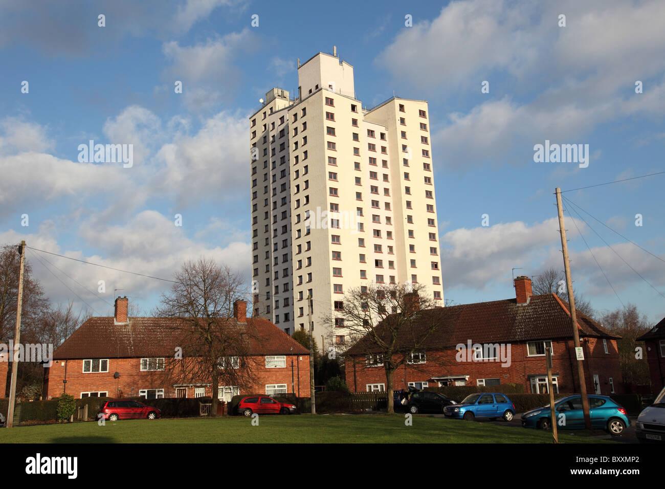 Social housing in Sneinton, Nottingham, England, U.K. - Stock Image