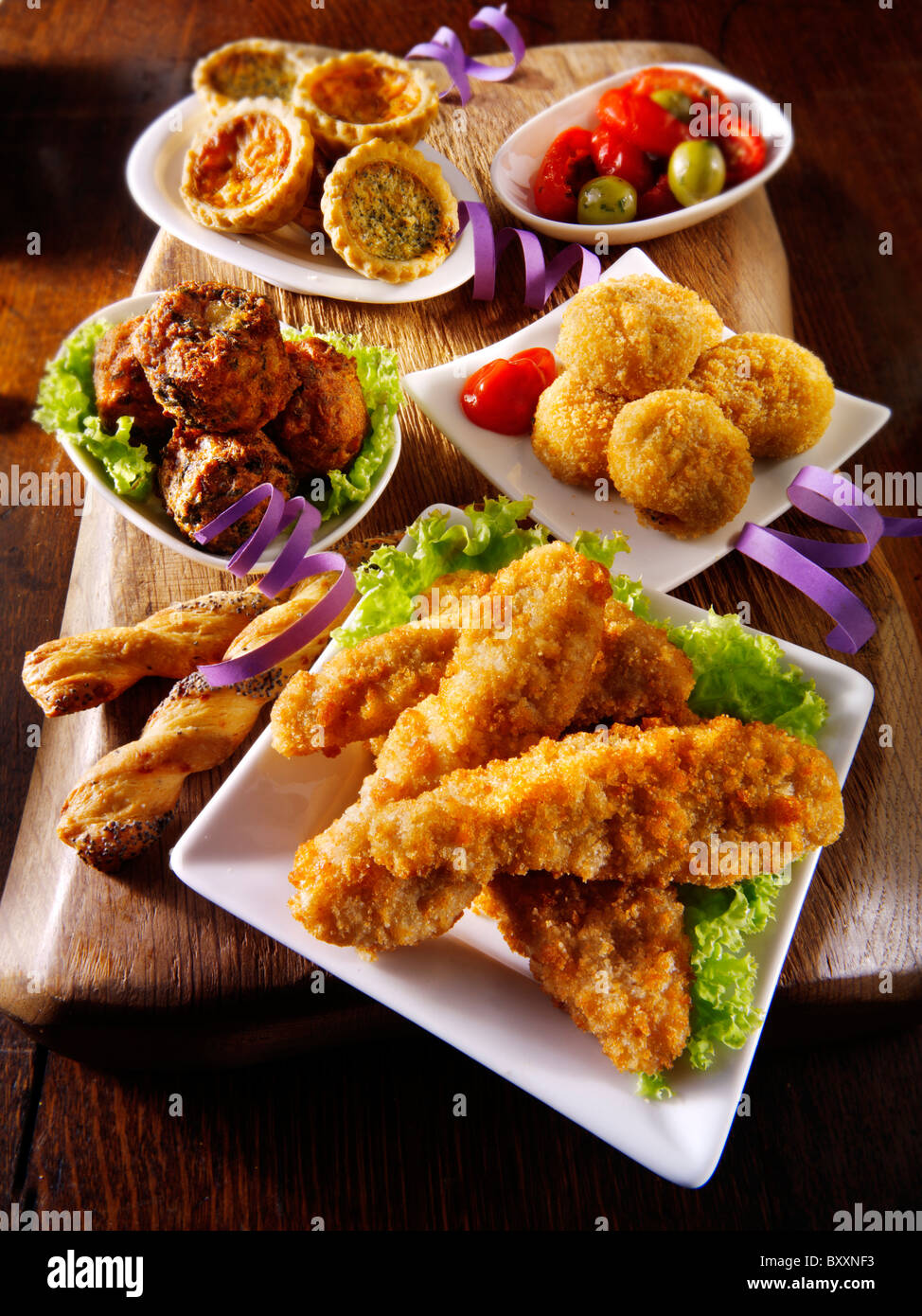 Groovy Party Buffet Food With Southern Fried Chicken Bhajis Mini Download Free Architecture Designs Scobabritishbridgeorg