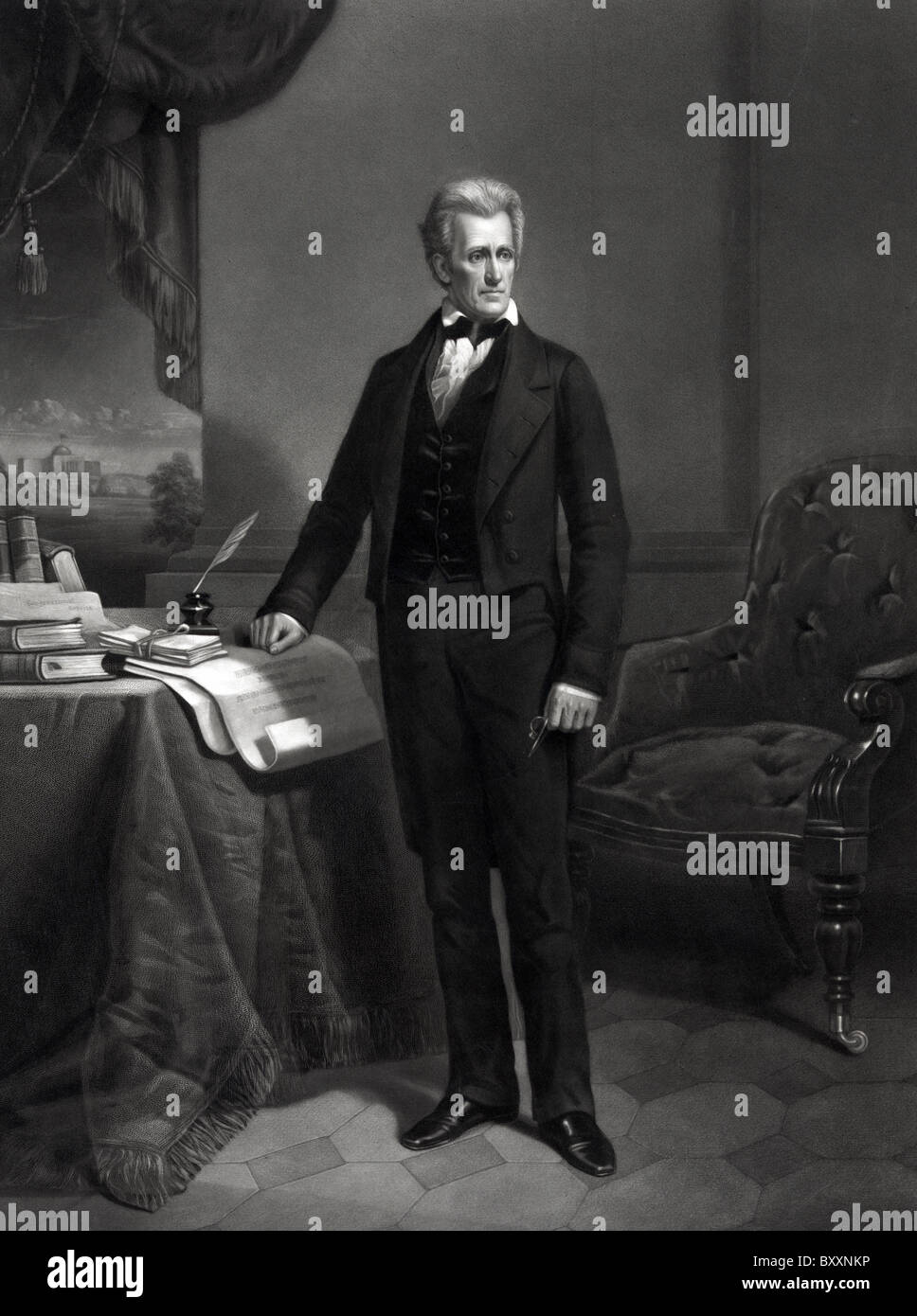 Andrew Jackson,  President Andrew Jackson the 7th President of the United States. - Stock Image