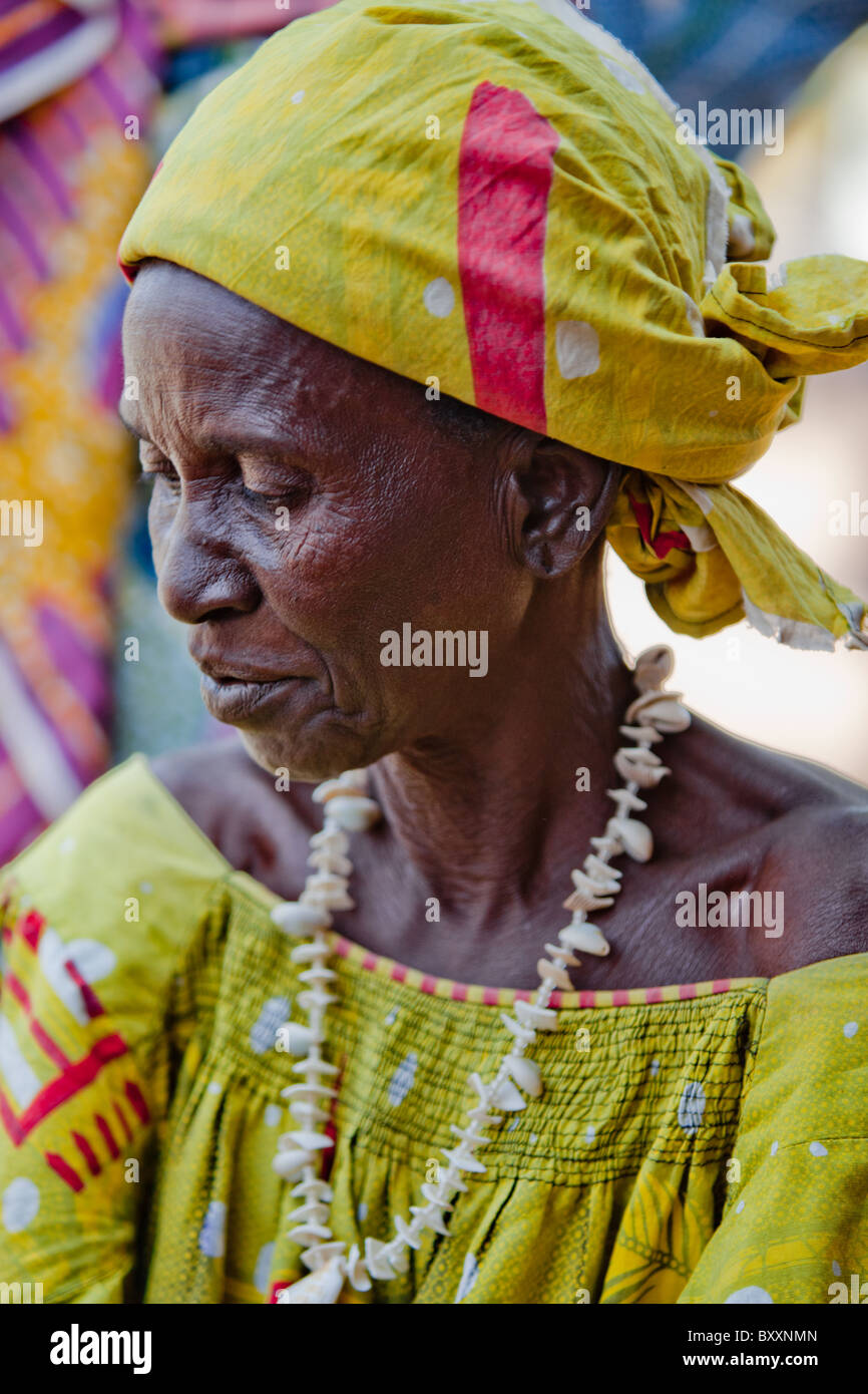 Woman in the market in Djibo in northern Burkina Faso. - Stock Image