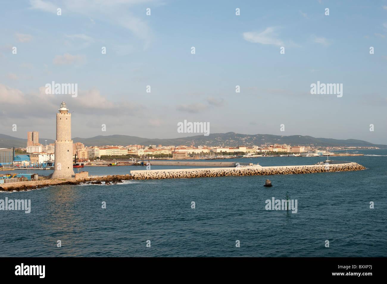 Livorno Port Tuscany Pisa Italy - Stock Image
