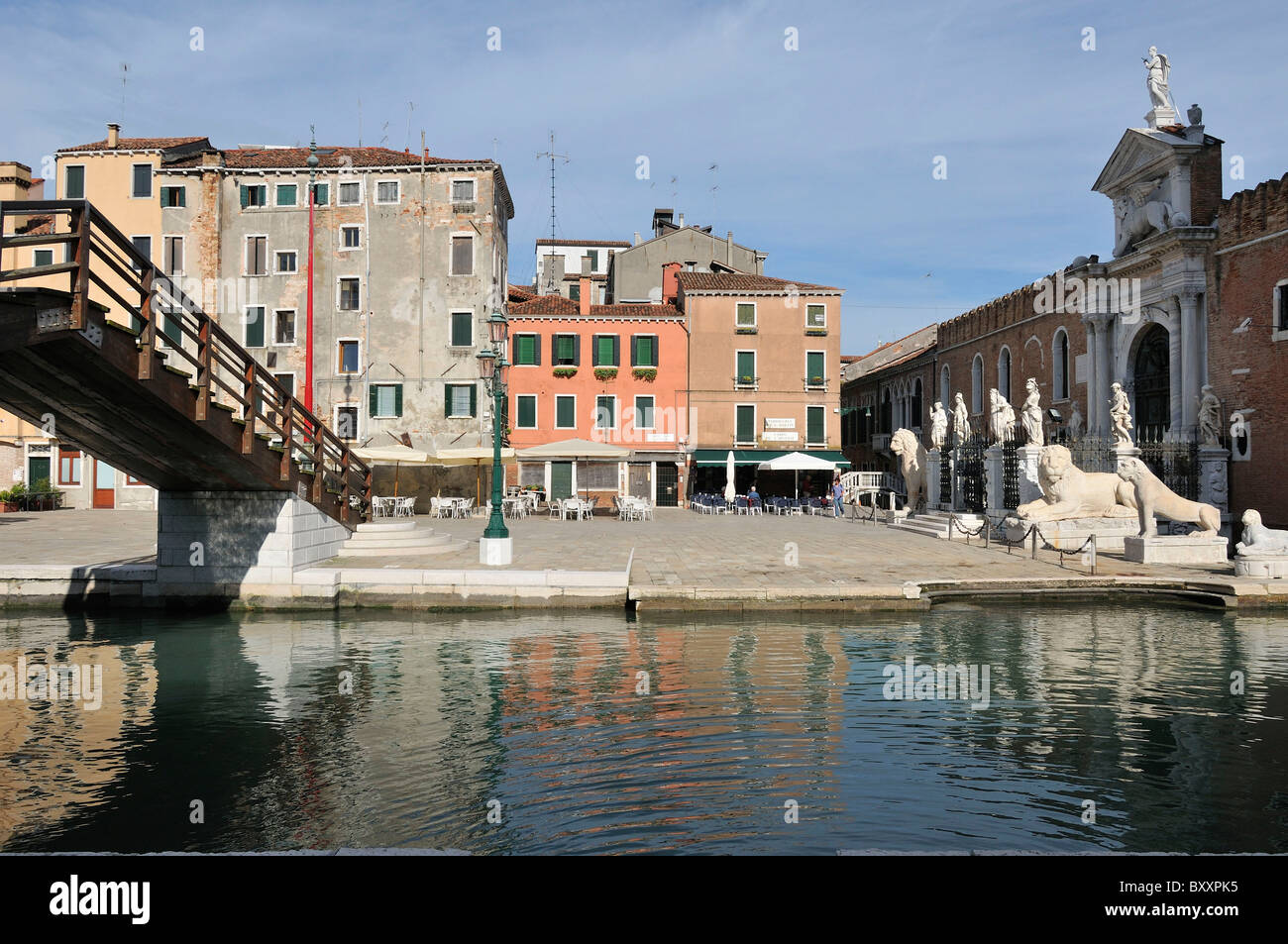 Venice. Italy. Entrance to the Arsenale in the Castello district. - Stock Image