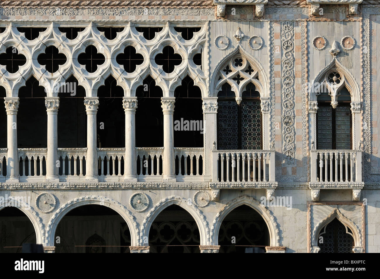 Venice. Italy. 15th C Ca' d'Oro from the Grand Canal. - Stock Image