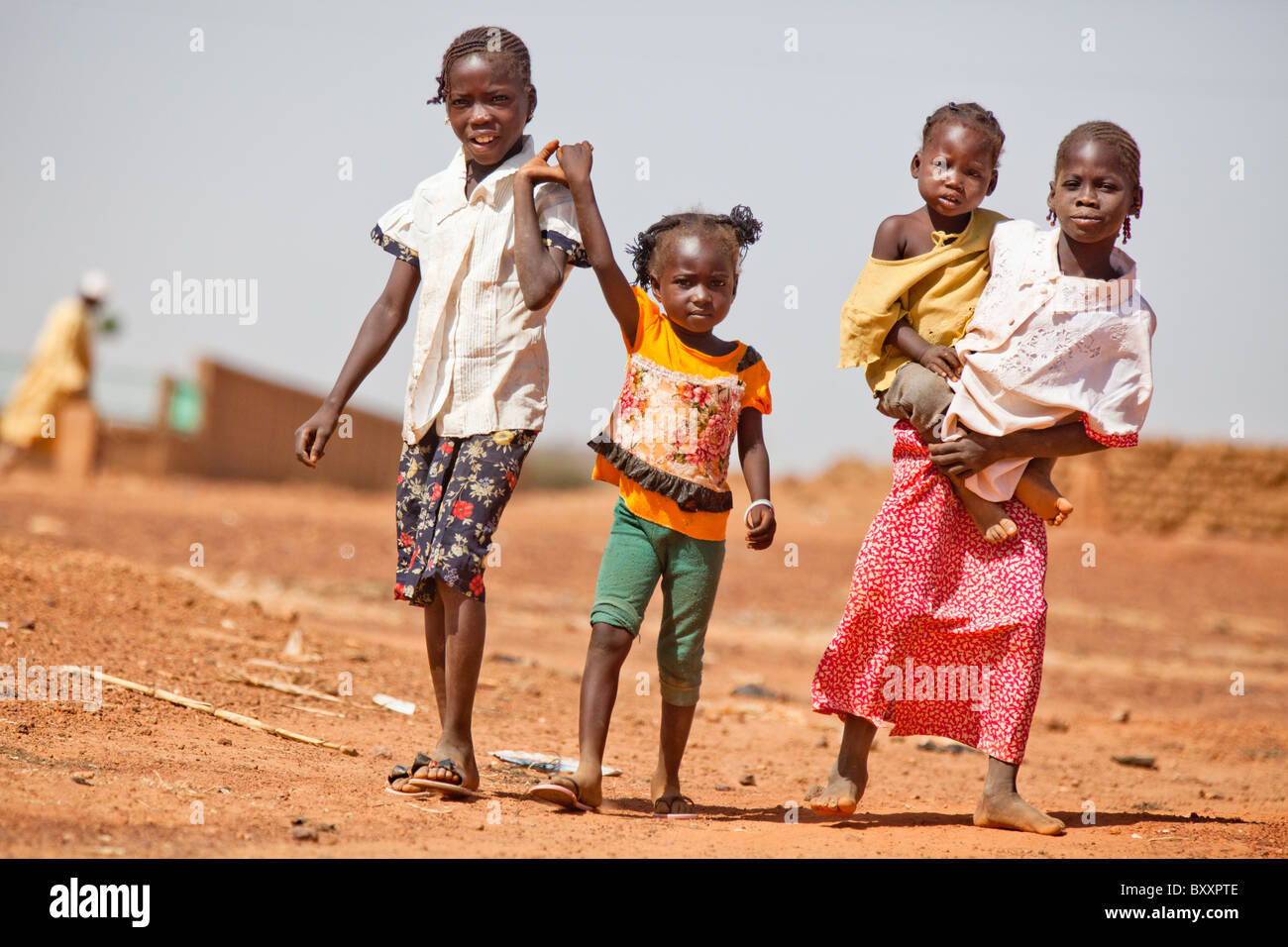 Children in the town of Djibo in northern Burkina Faso. - Stock Image