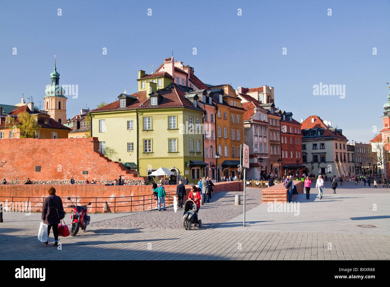 The Castle Square, Warsaw, Poland - Stock Image
