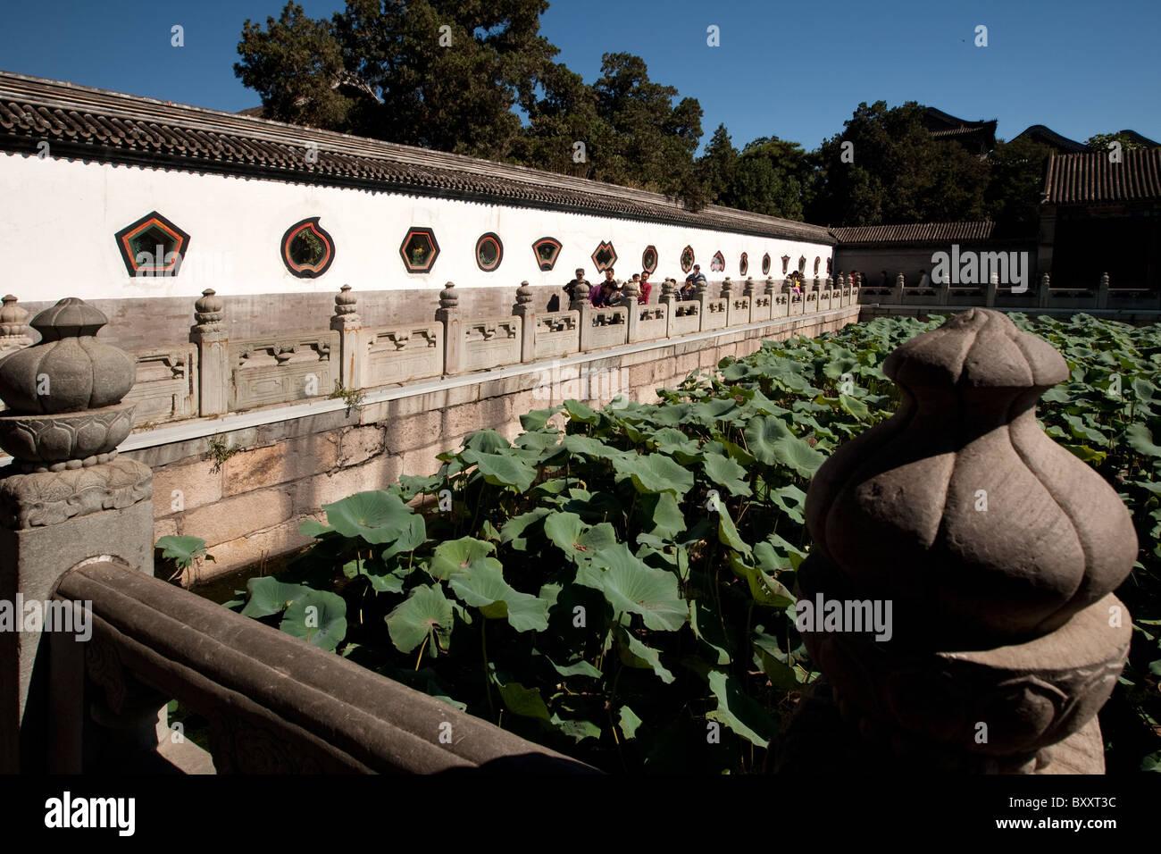 Yiheyuan = Garden of Restful Peace = Summer Palace + Kunming Lake Beijing China - Stock Image