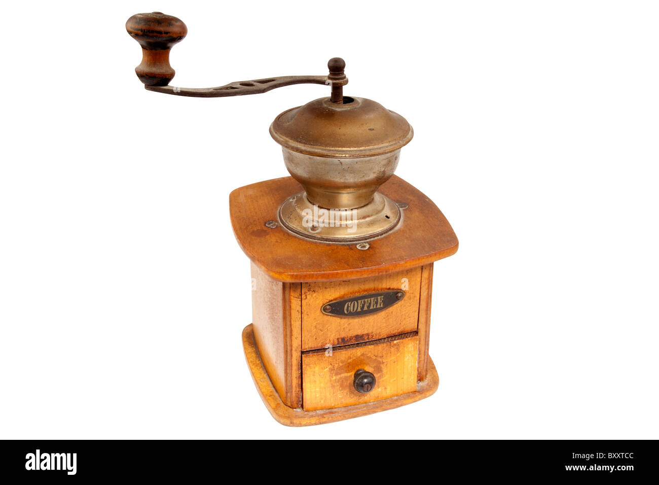 Antique coffee mill - Stock Image