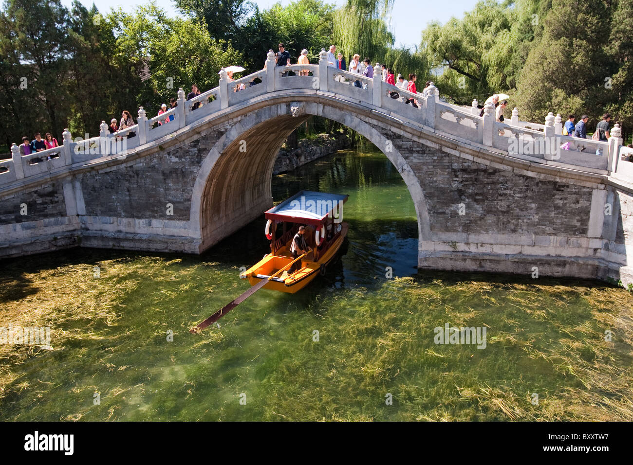 Yiheyuan = Garden of Restful Peace = Summer Palace Beijing China - Stock Image