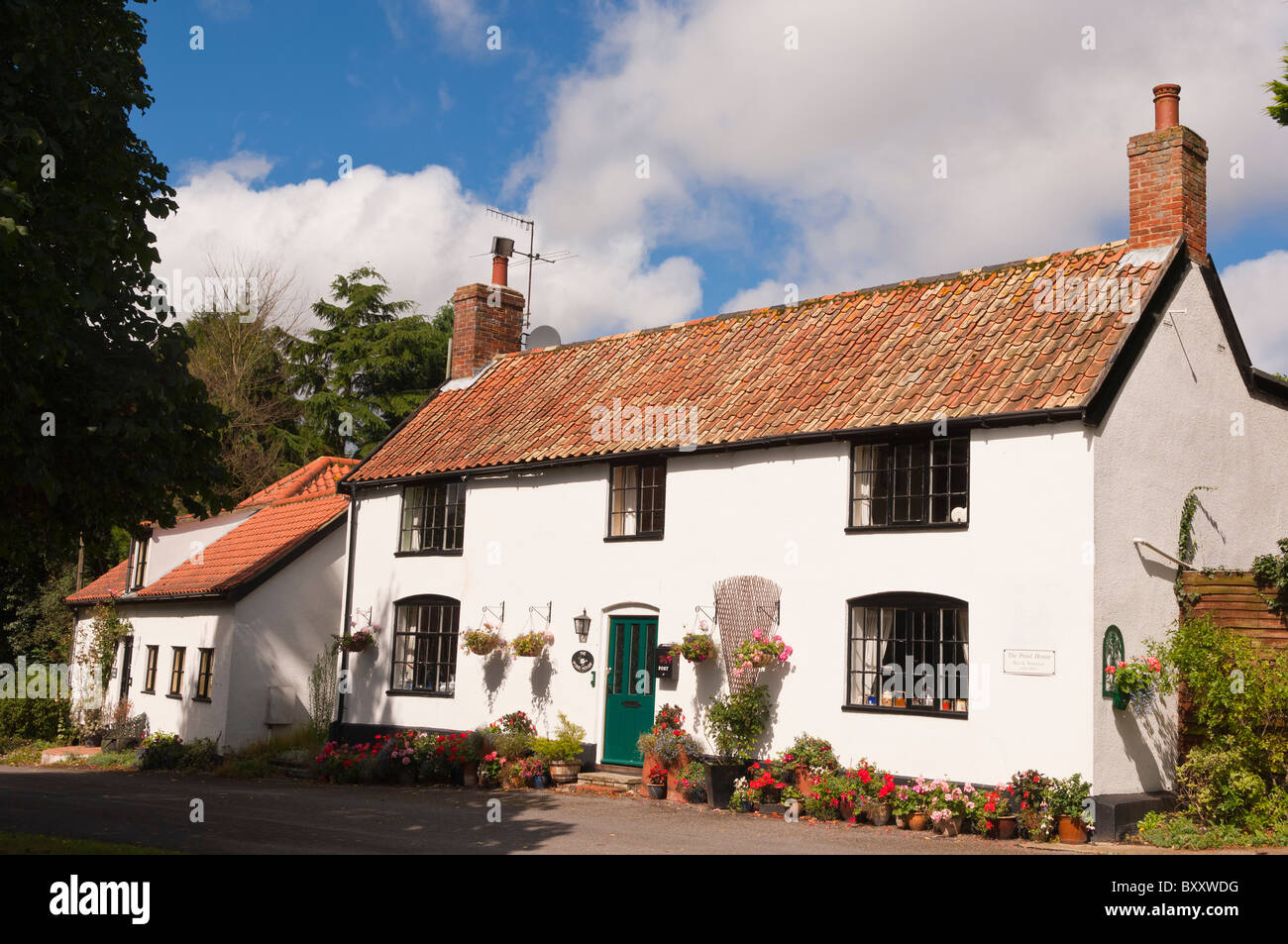 The Pond House Bed and Breakfast in Westleton , Suffolk , England , Great Britain , Uk - Stock Image