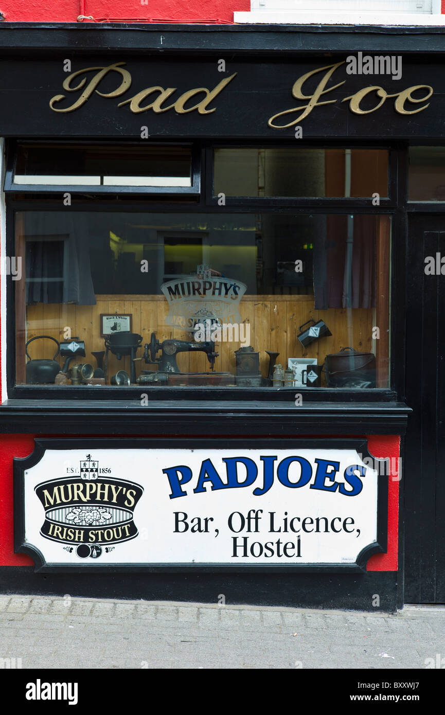 Pad Joe's Bar Off LIcence and Hostel in Timoleague, West Cork, Ireland - Stock Image