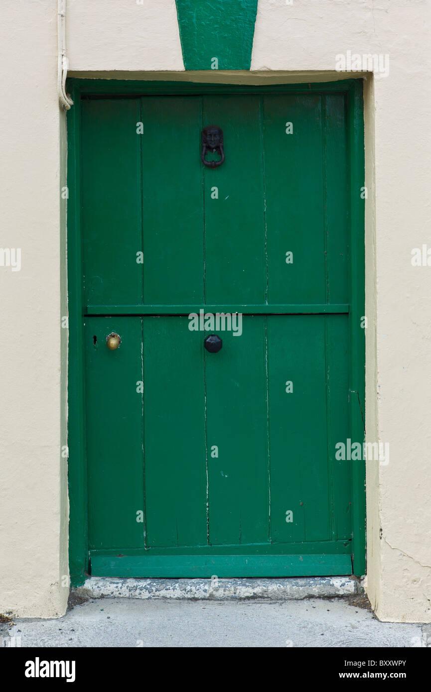 Split Stable Style Door In County Cork, Ireland   Stock Image