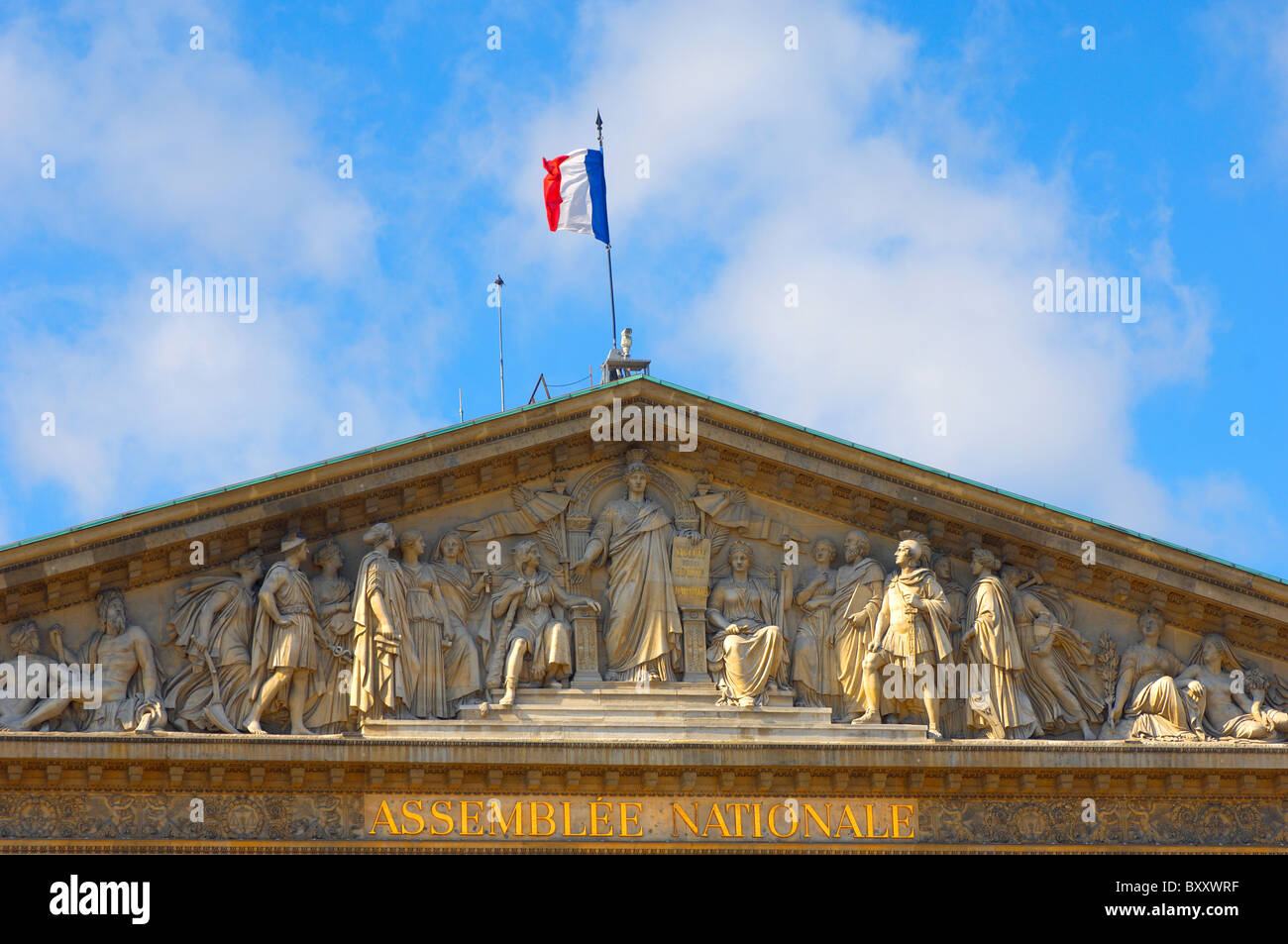 Paris - France - National Assembly - Stock Image
